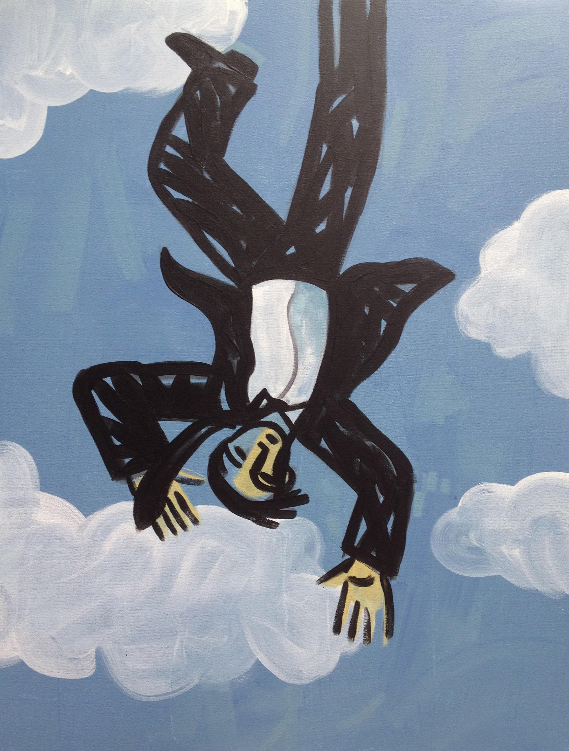 Icarus  , Anthony Russo, 2012.  acrylic on canvas