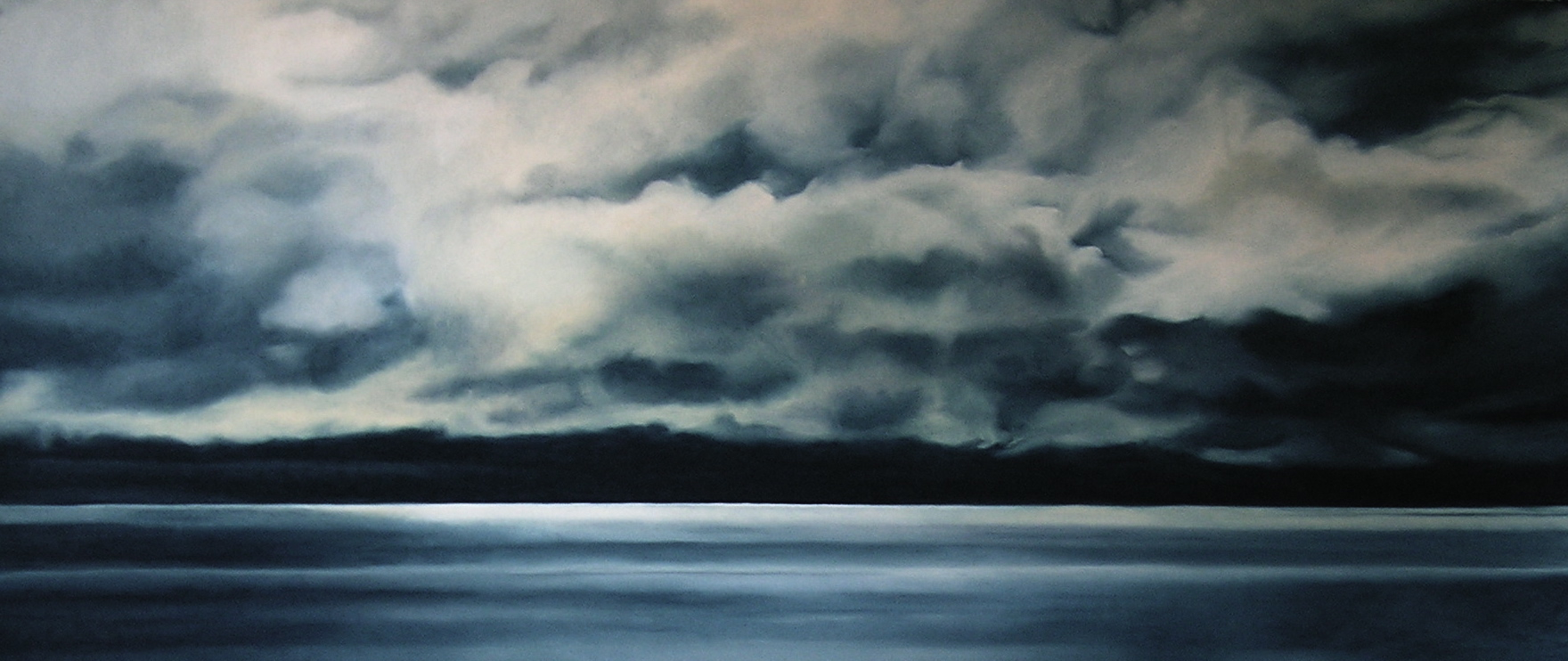 "Greenland #21A,    Zaria Forman.  26"" x 66"", soft pastel on paper"