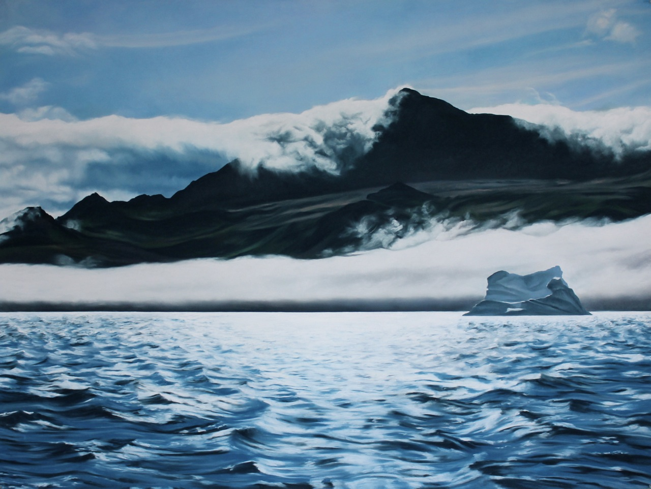"Greenland #51  , Zaria Forman.  45"" x 60"", soft pastel on paper"