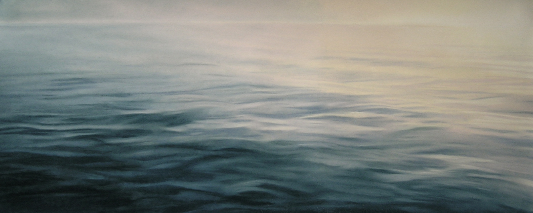 "Greenland #37  , Zaria Forman.  20"" x 50"", soft pastel on paper"