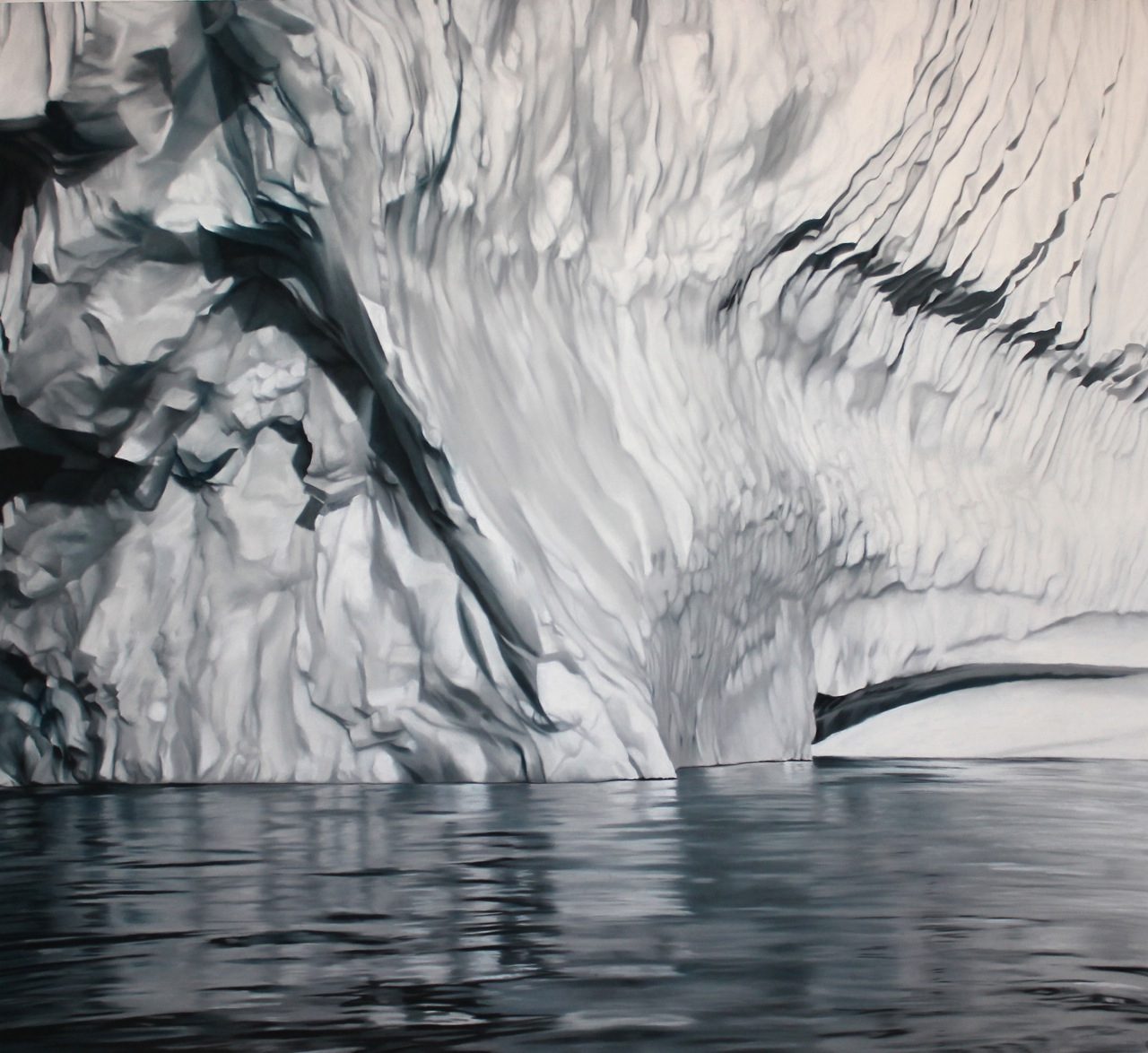 "Greenland #57,    Zaria Forman.  40"" x 50"", soft pastel on paper"
