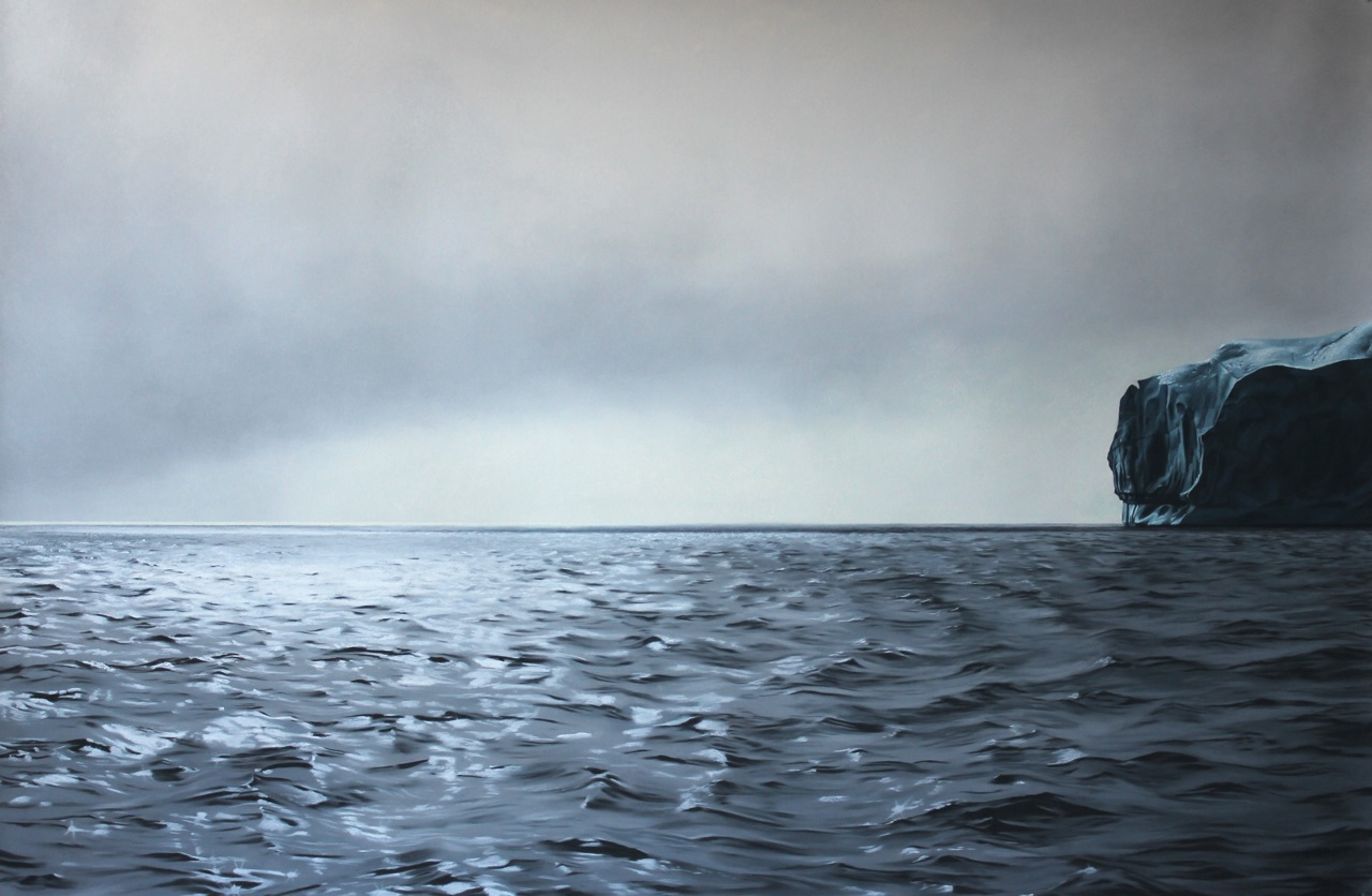 "Greenland #61  , Zaria Forman.  40"" x 60"", soft pastel on paper"