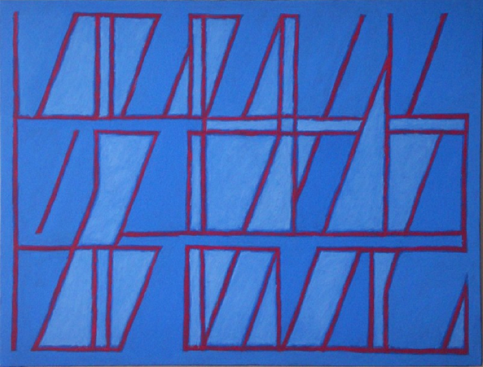 """Red Line  , John Havens Thornton, 2011.  18"""" x 24"""", oil on canvas  $1400"""