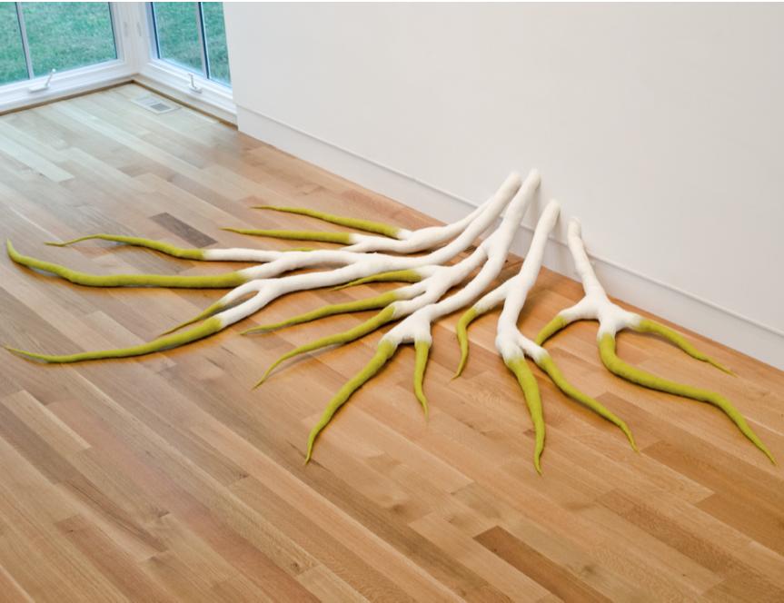 Searching  , Anna Kristina Goransson, 2012.  8' x 5' x 2', Wool, Polyfill, dye
