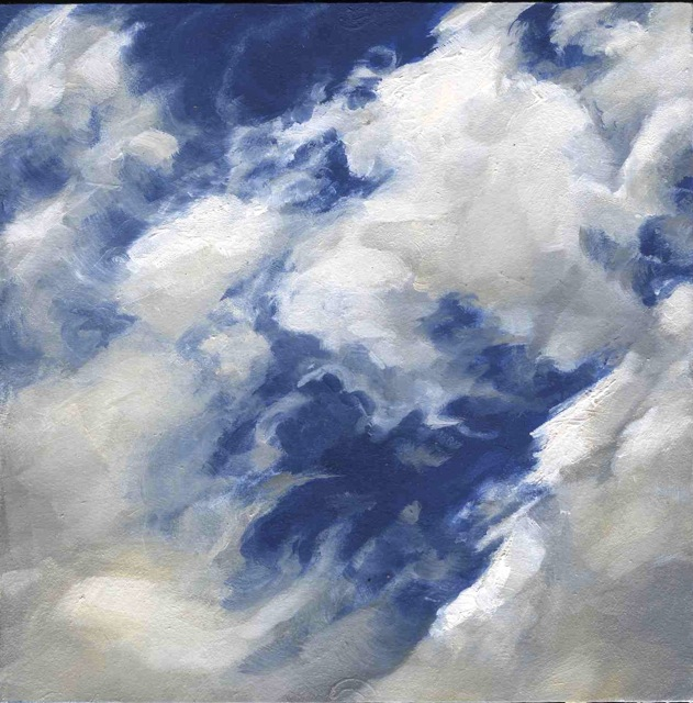 "Cloud  ,Nancy Train Smith, 2012  4""x4"" oil on canvas  Sold"