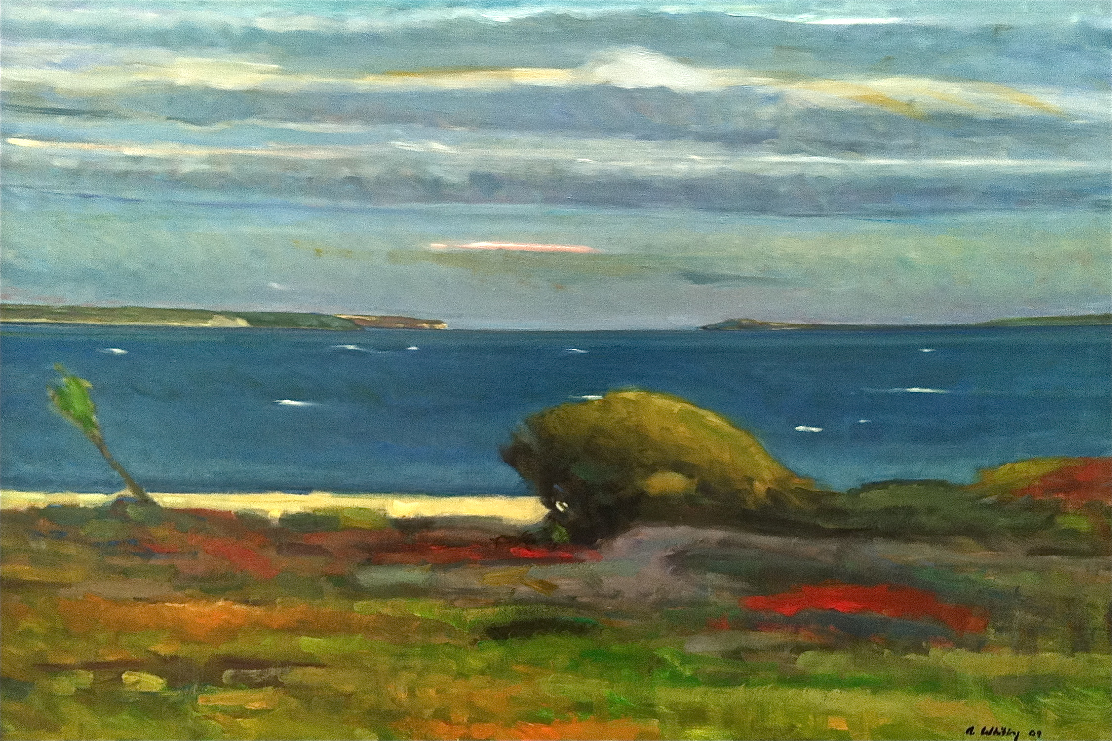 """View From Barney's Joy  , Allen Whiting   40""""x 60"""", oil on canvas"""
