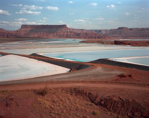 """Potash Evaporation Ponds, near Moab, Utah  , Kipp Wettstein, 2009.   50"""" x 60"""", digital C-print"""