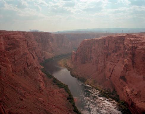 "Glen Canyon Dam outlet, Page, Arizona,   Kipp Wettstein, 2009.  50"" x 60"", digital C-print"