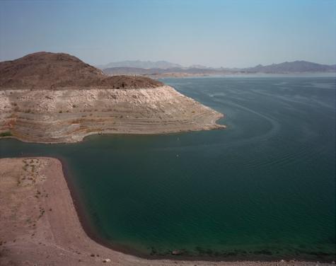 "Lake Mead, Nevada  , Kipp Wettstein, 2009.   50"" x 60"", digital C-print"
