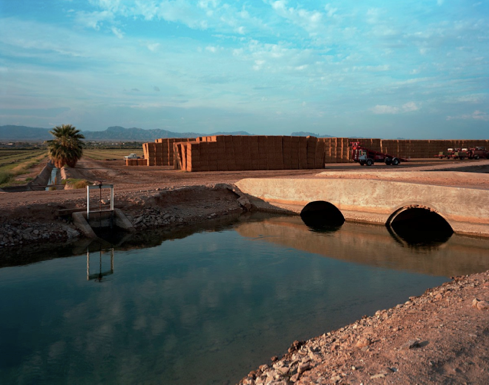 "Irrigation Canals near Parker Arizona  , Kipp Wettstein, 2009.  50"" x 60"", digital C-print"