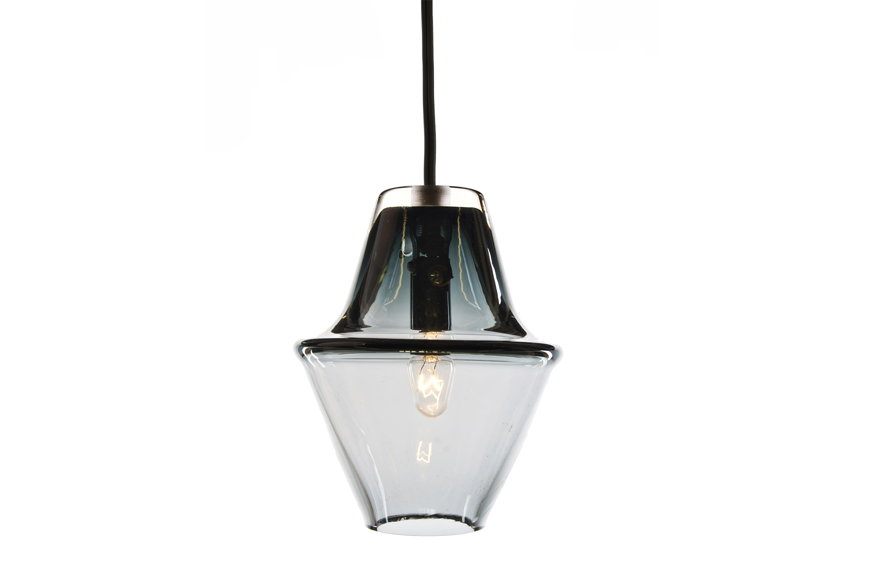 "Cumberland Lamp (Smoke Grey)   DUNN  Glass, 5.75""x4.75"""