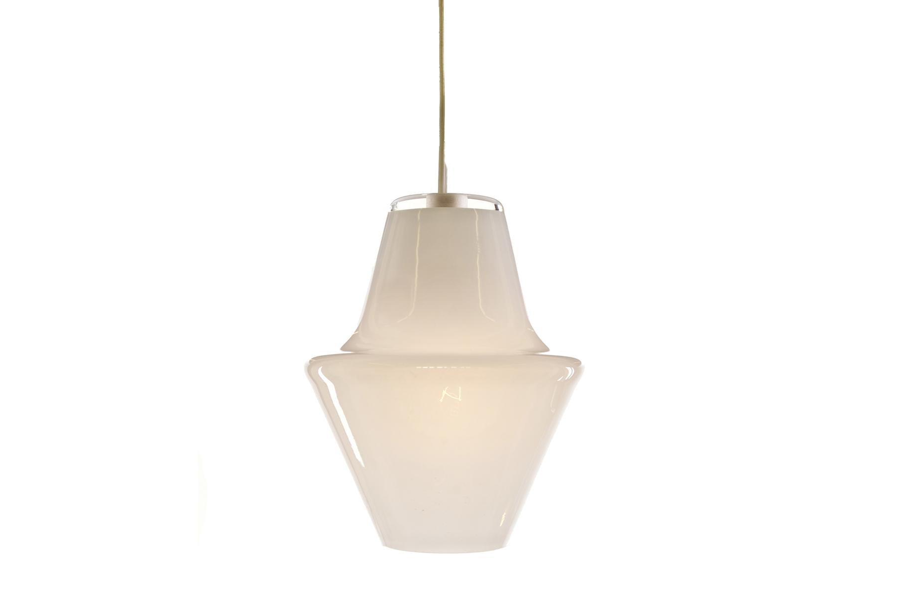"Cumberland Lamp (Opal White)   DUNN  Glass, 5.75""x4.75"""
