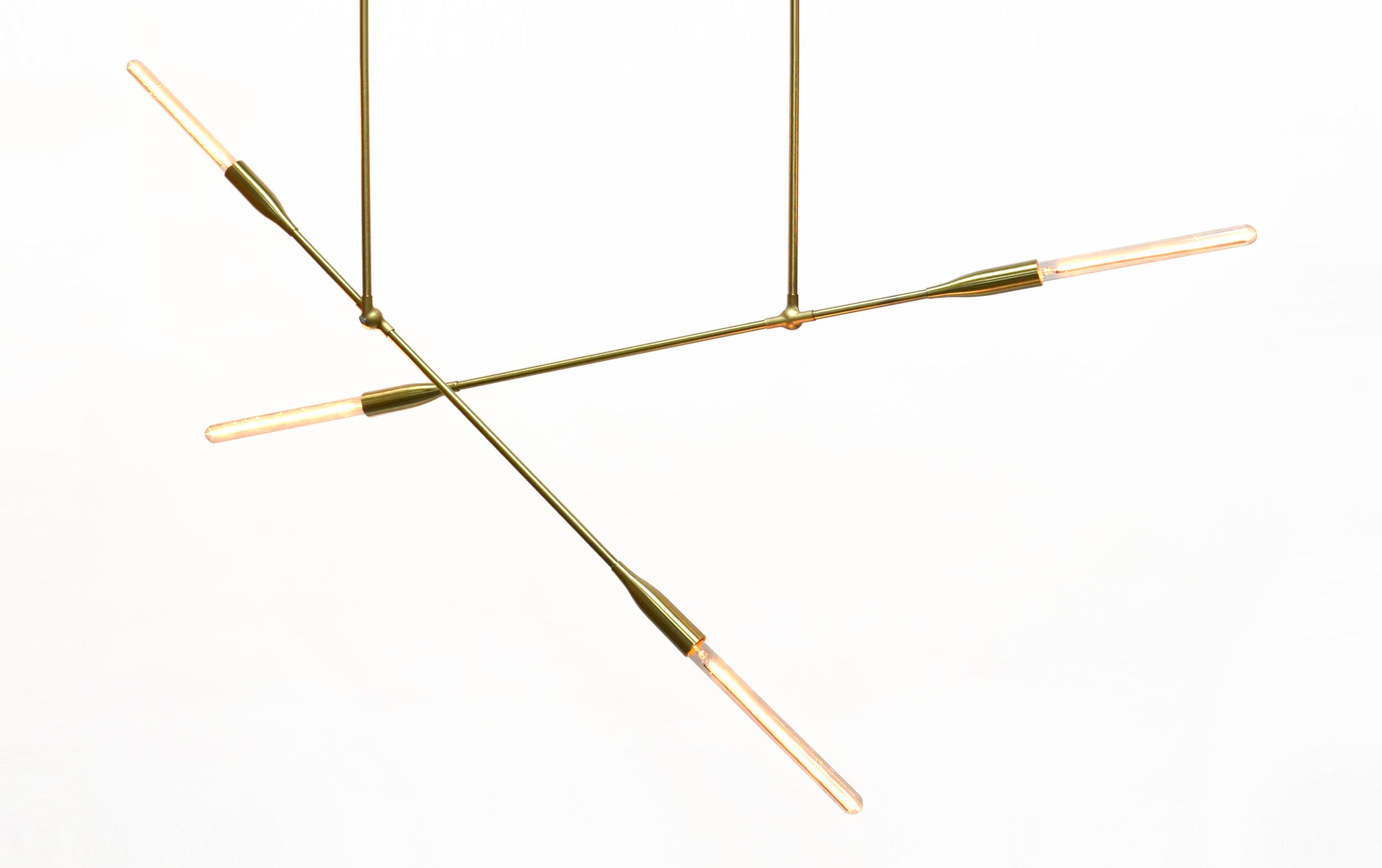 """Sorenthia Light   DUNN  Brass, Steel, 60"""""""