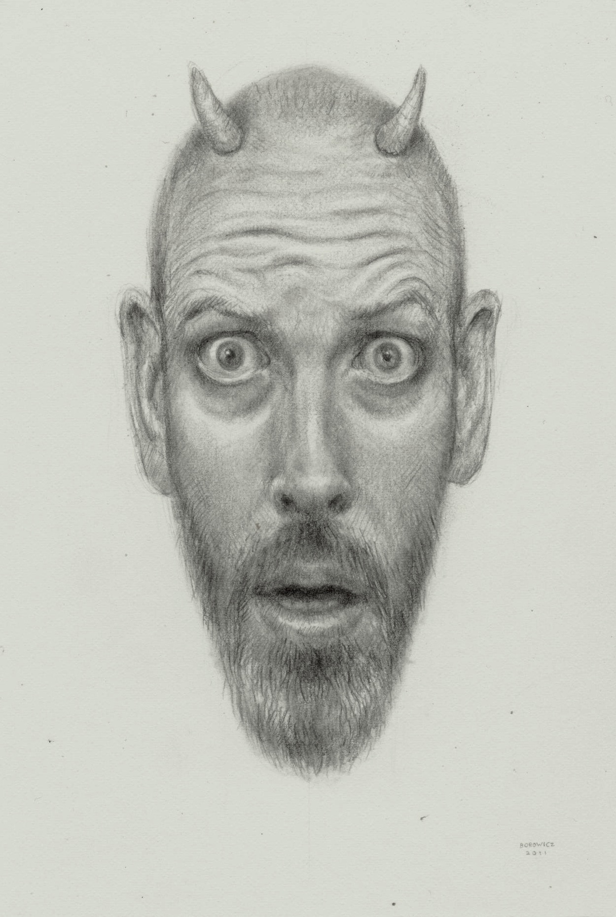 """Early the Next Morning   John Borowicz   graphite on paper, 6.25""""x4.25"""" 2012"""