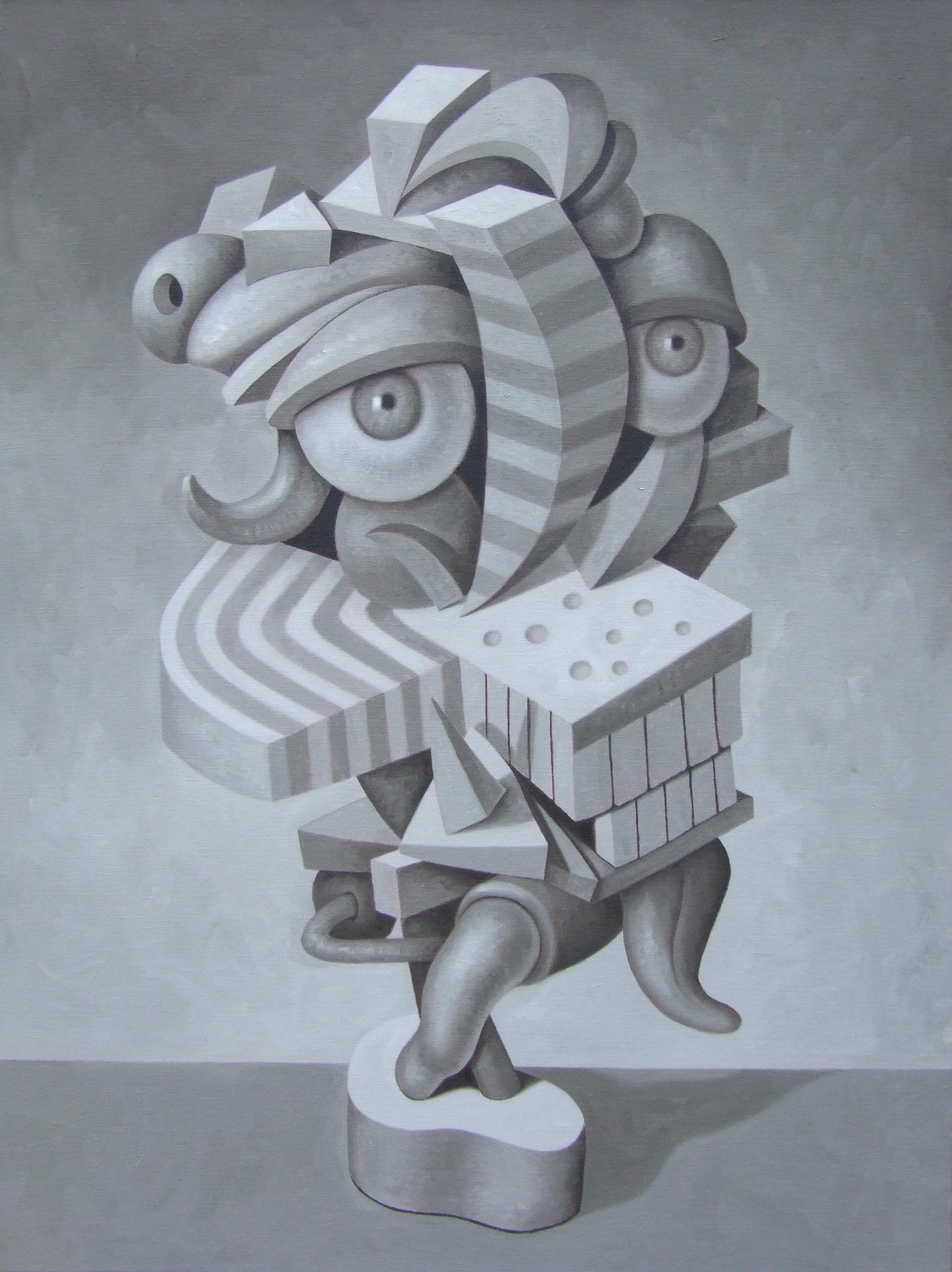 """The Tourist   John Borowicz   oil on canvas, 40""""x30"""" 2013"""