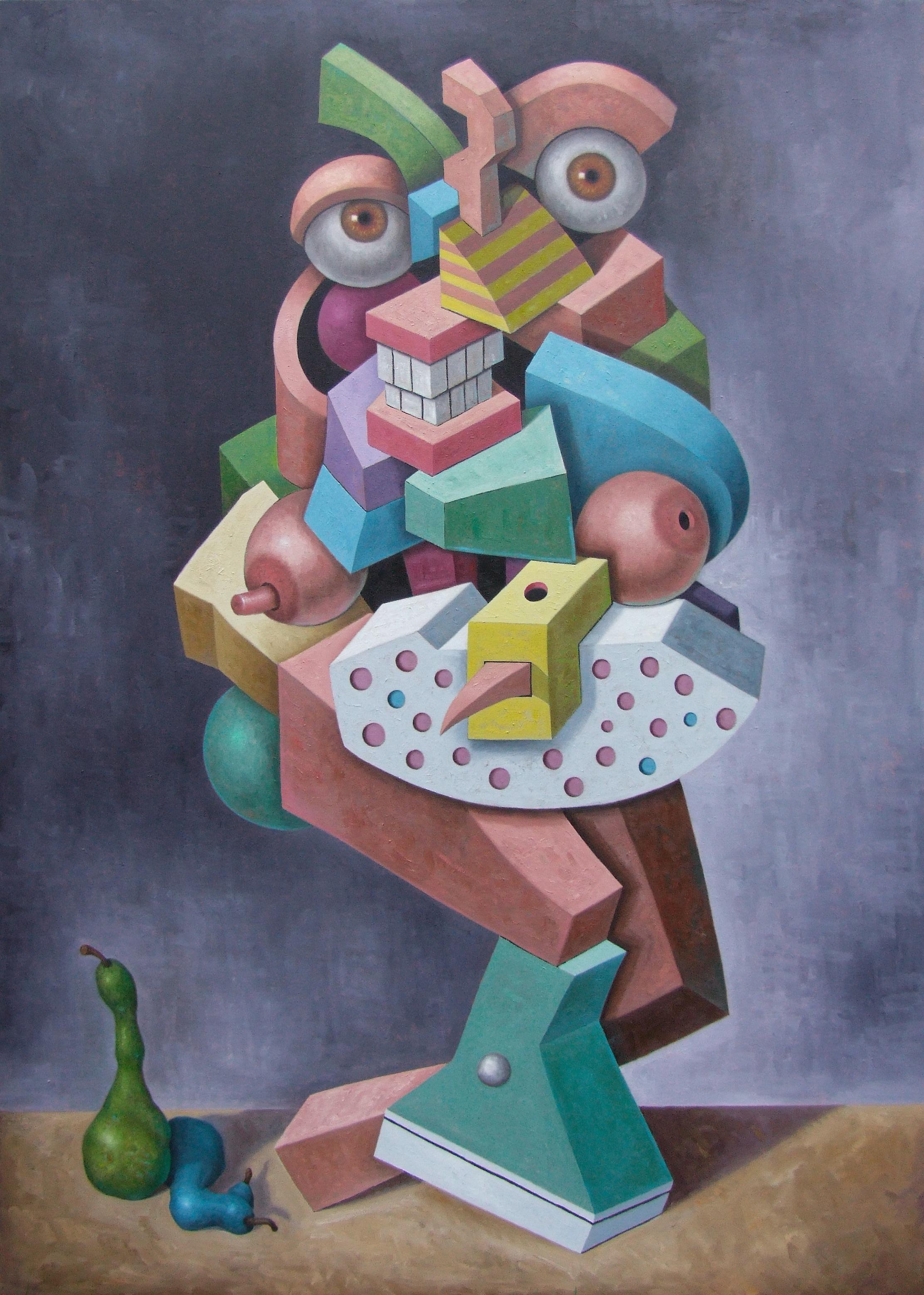 """The Wayward Au Pair   John Borowicz   oil on canvas, 84""""x60"""" 2013"""