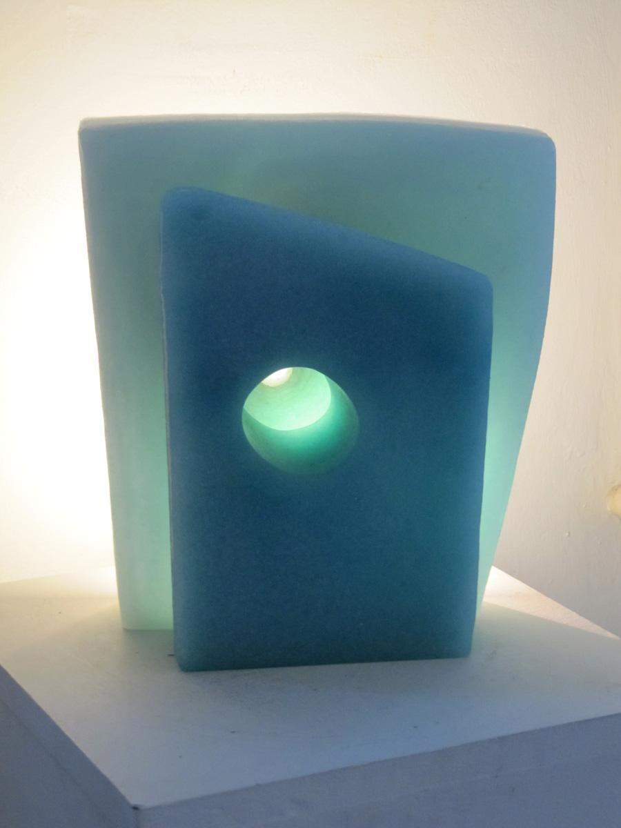 "Reprise,  Meris Barreto, 2011.  13""x 8""x 4"" recycled cast glass"