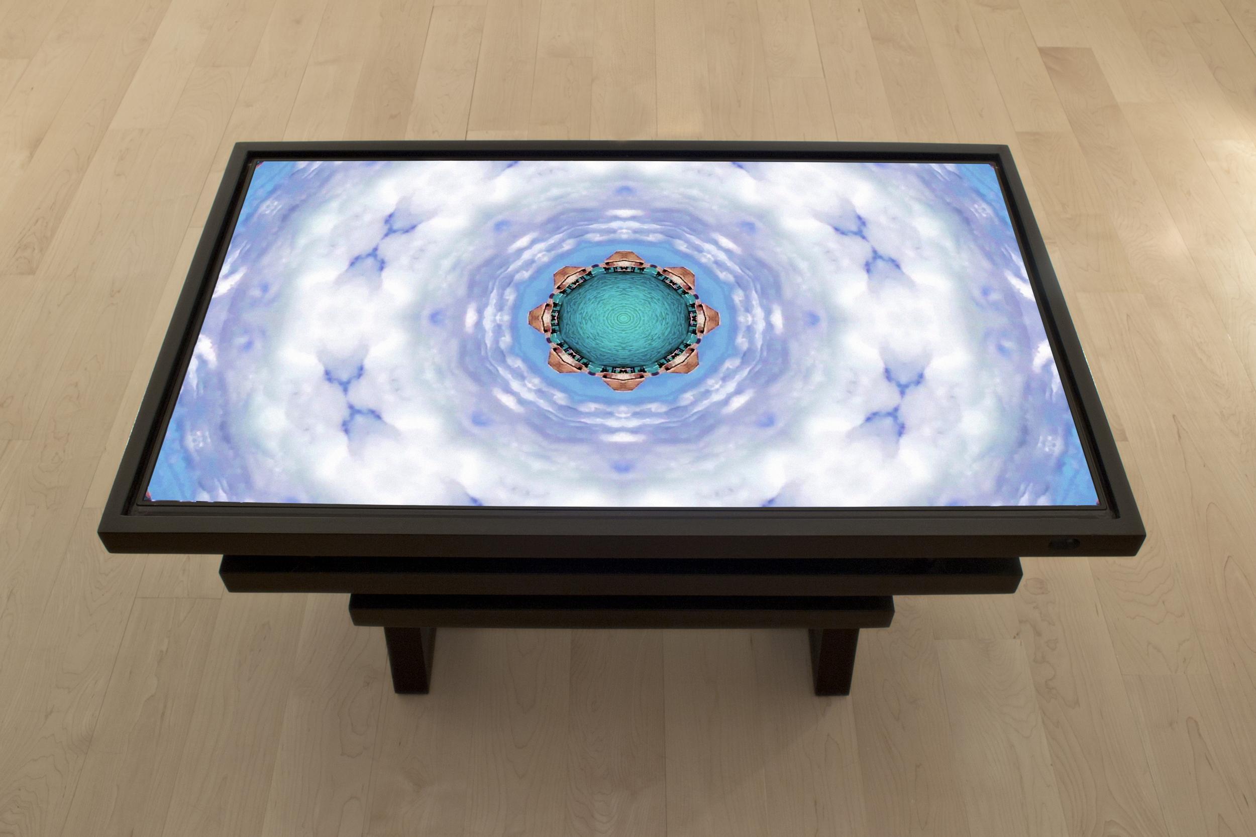 Ann Spalter  Topio (Video Table), Bora Bora: Lagoon, 1080p HD digital video, 3min. 2013