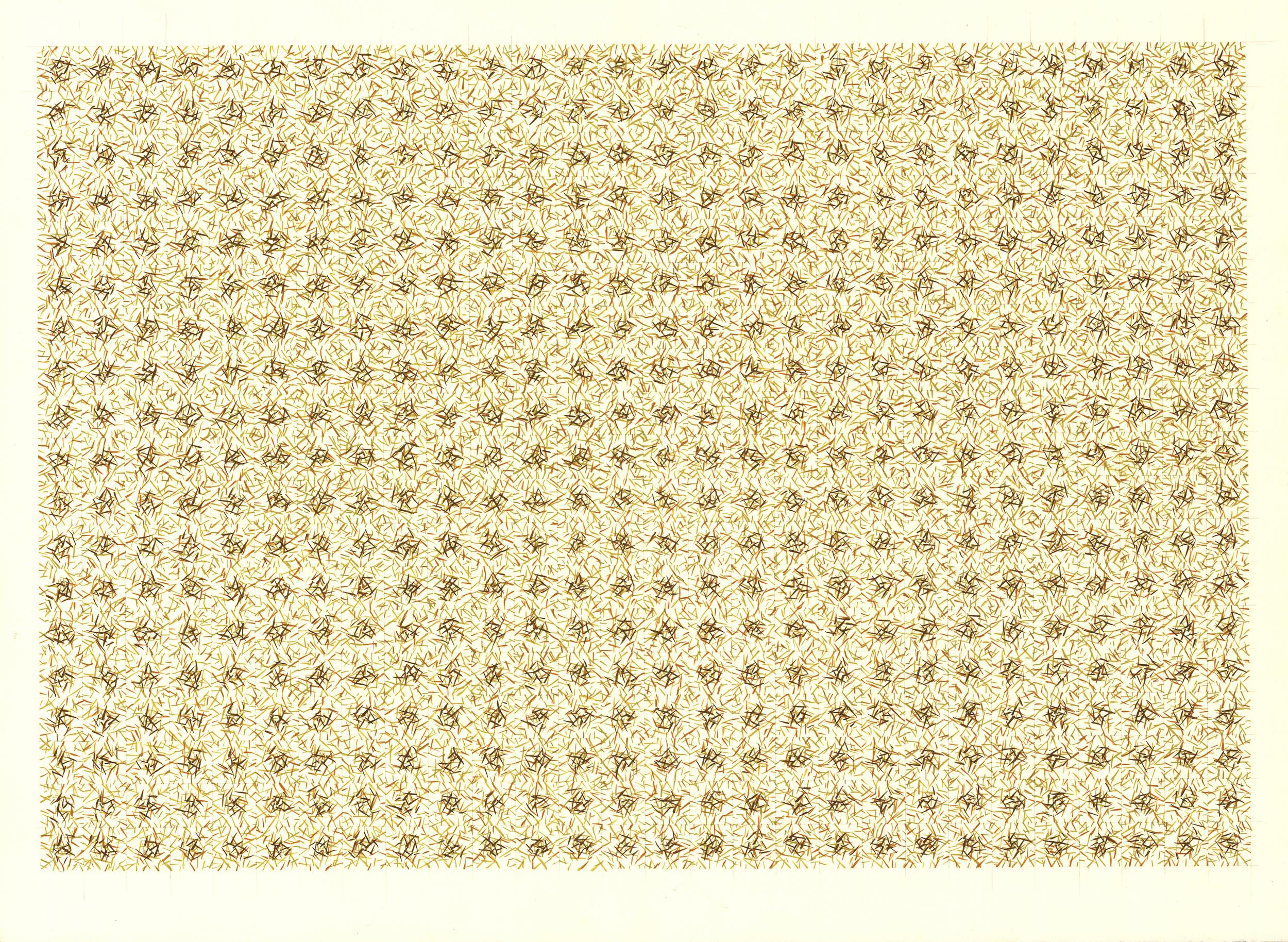 "Continuum 47     Jacqueline Ott, 1998  gouache, graphite, on paper  22"" x 30"""