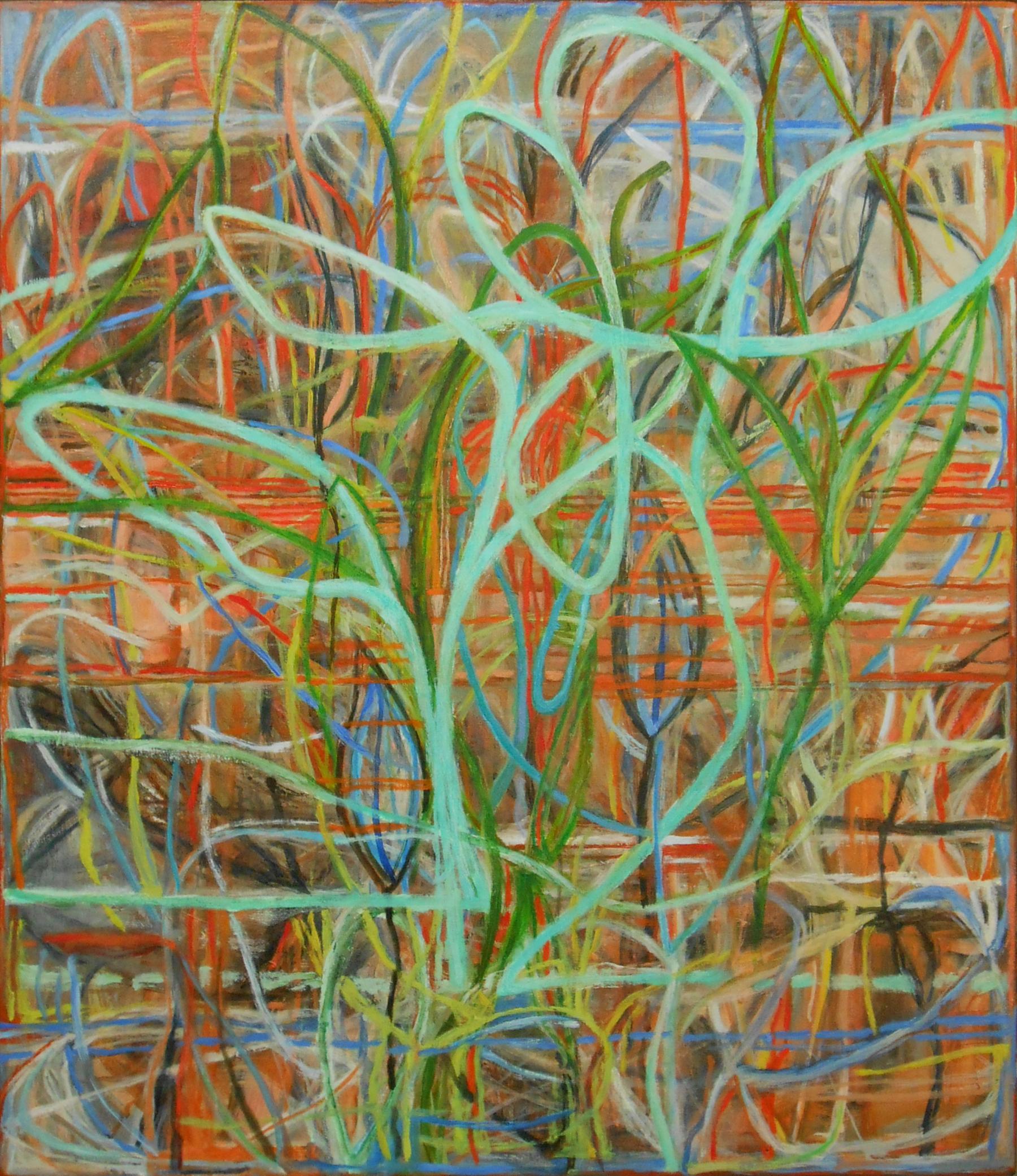 """Audubon Vireo     Pat Coomey Thornton, 2012    38""""x33,"""" Oil on canvas"""