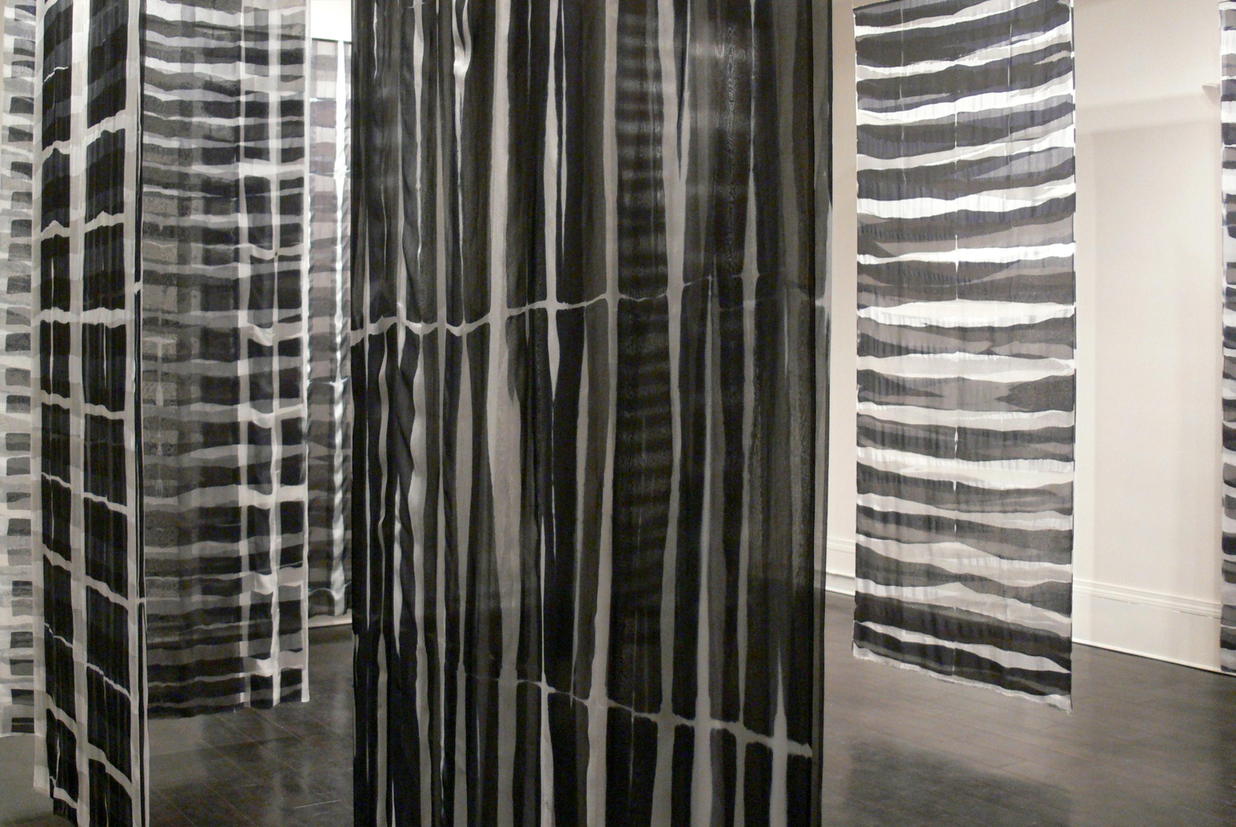 """Vox Stellarum     Elin Noble, 2009    106""""x42"""" dyed silk"""