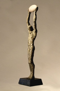 "Messenger, Walter Horak  Bronze  Edition 7  18 x 4 x 4"""