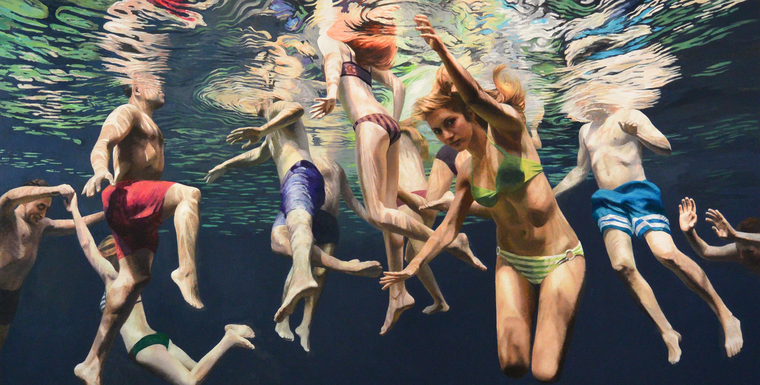 """Cenote Azul #3 , 2014,  40 x 60""""    Acrylic on linen"""