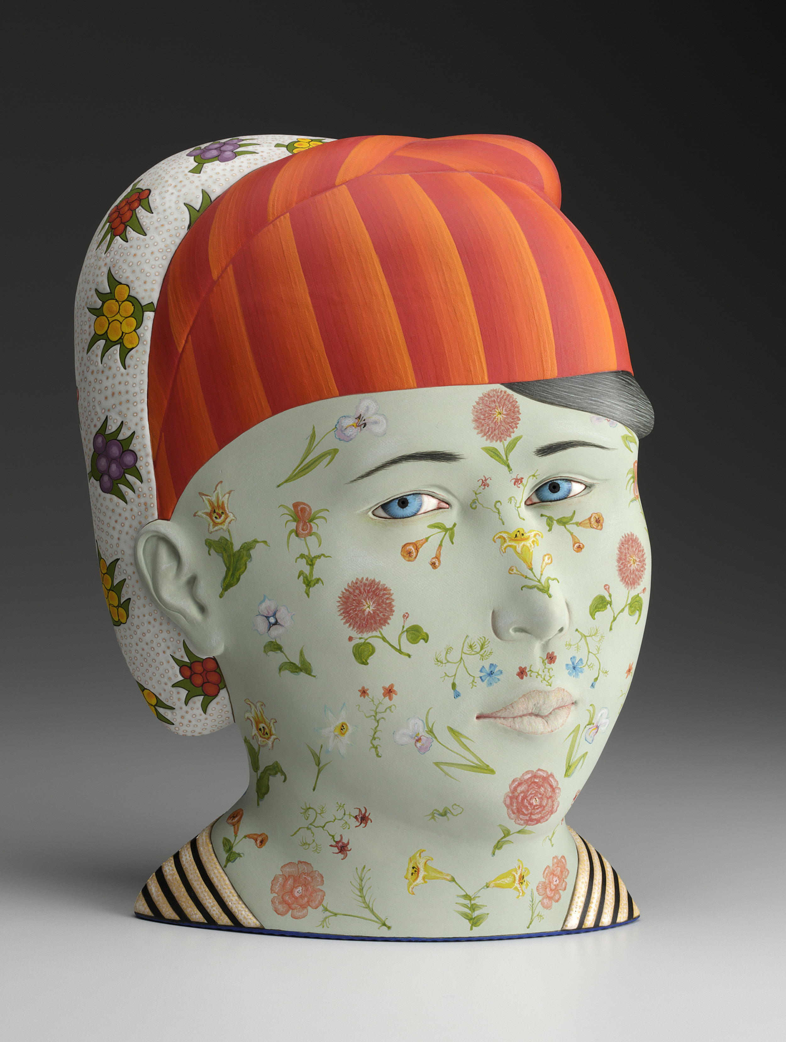 "Jarira,  2012,   14 x 10 x 6""    Porcelain, slip and glaze      Photo: John Polak courtesy of Ferrin Contemporary"
