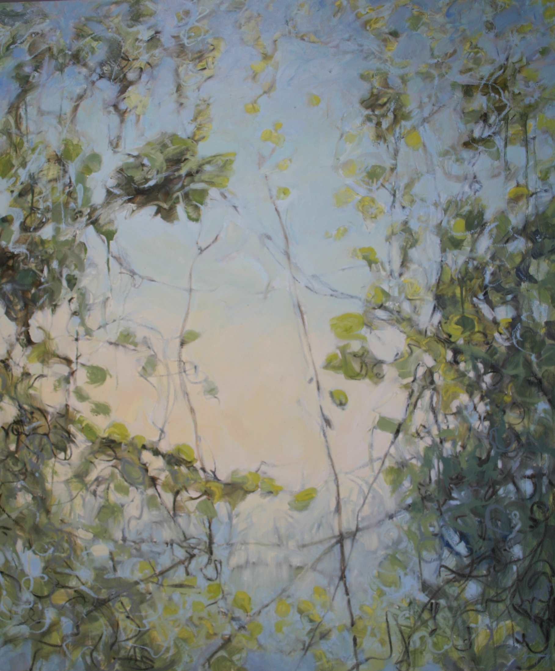 "Sky Vines    Jamie Young , 2012    72 x 60""    Oil on canvas"
