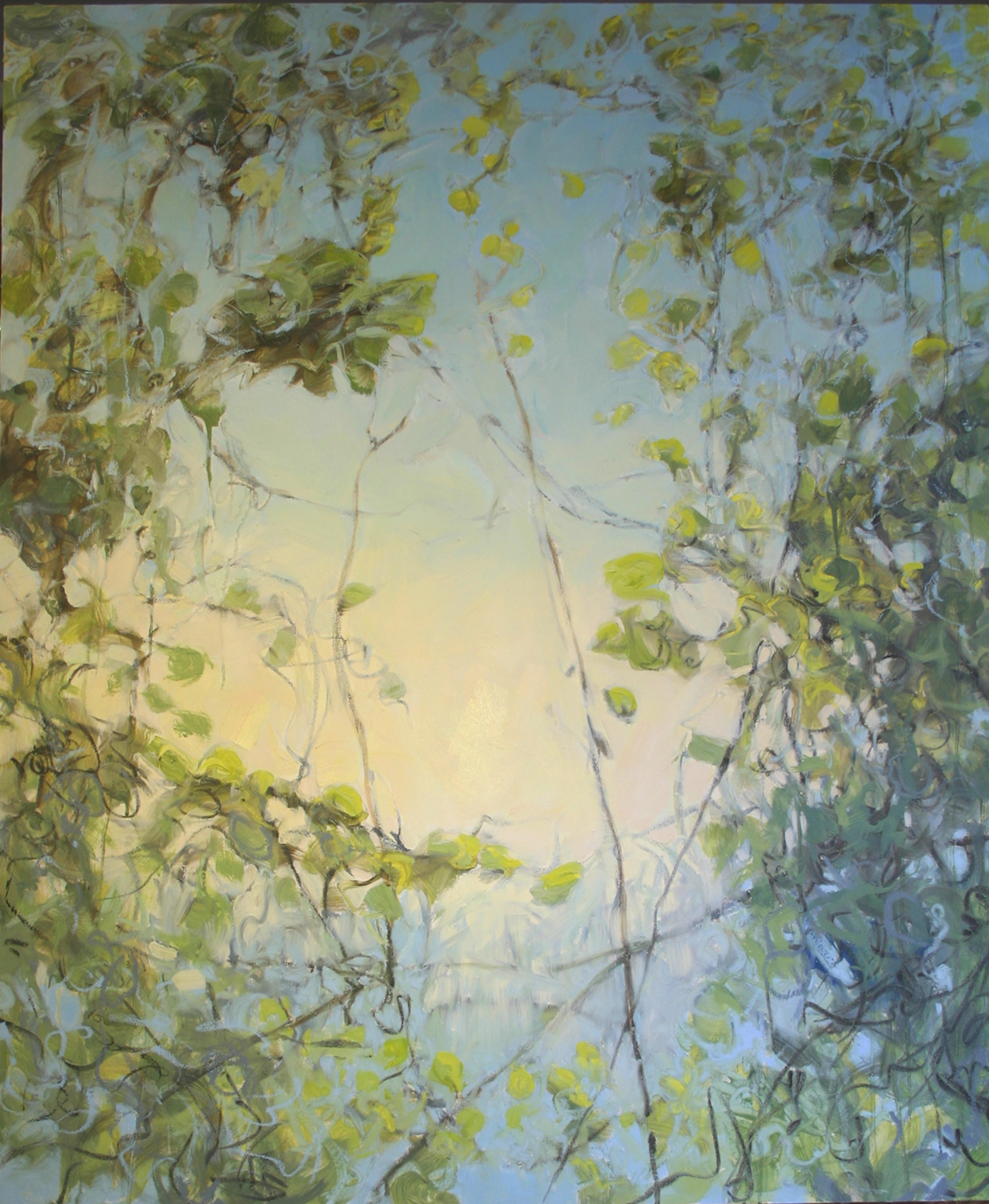 """Sky Vines, Jamie Young, 2012, 72 x 60"""" Oil on canvas"""