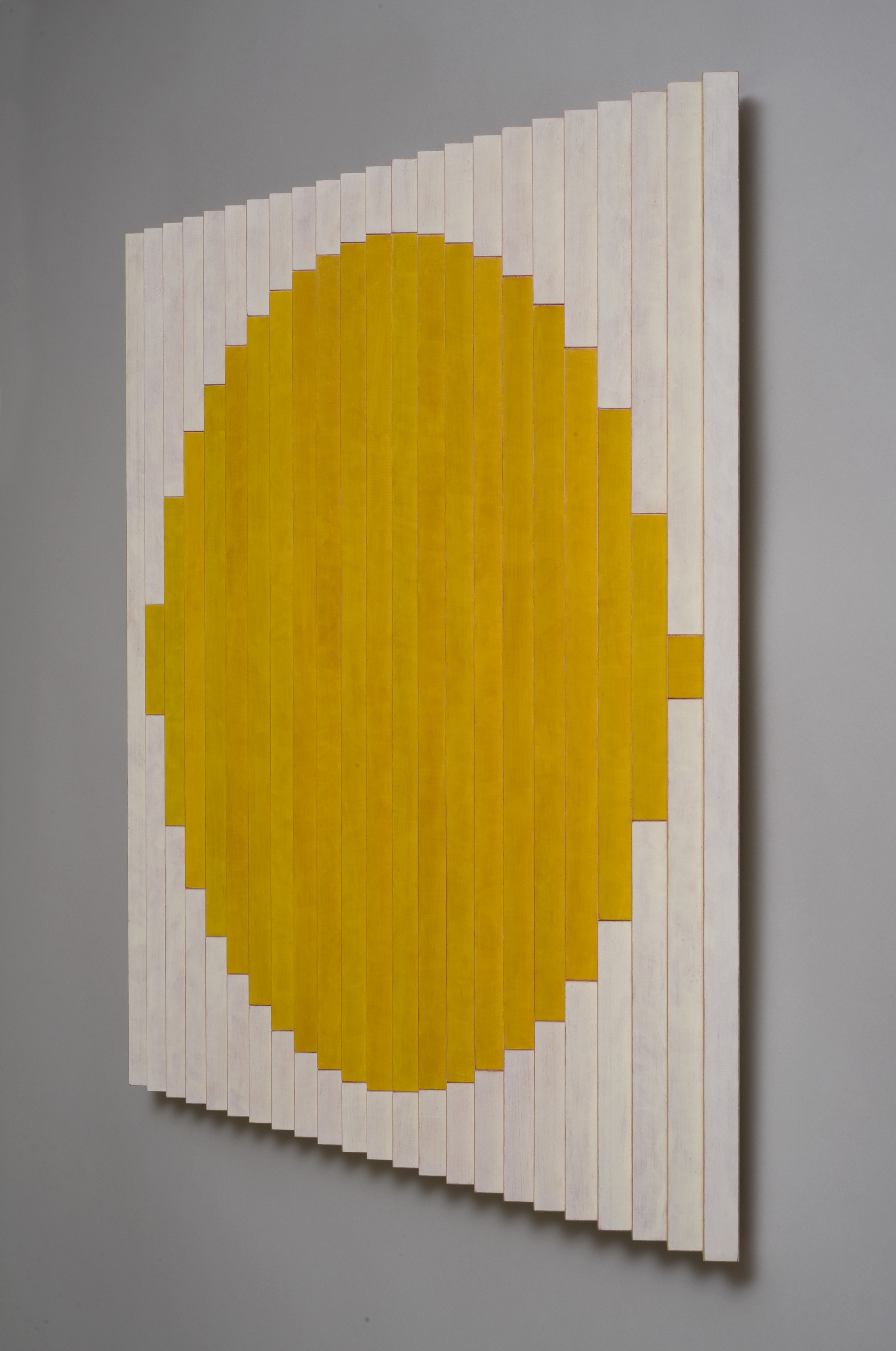 "Sol (Right)  Emi Ozawa, 2013   Acrylic paint on Maple   25 5/8""H x 25 1/4""W x1 1/2""D"