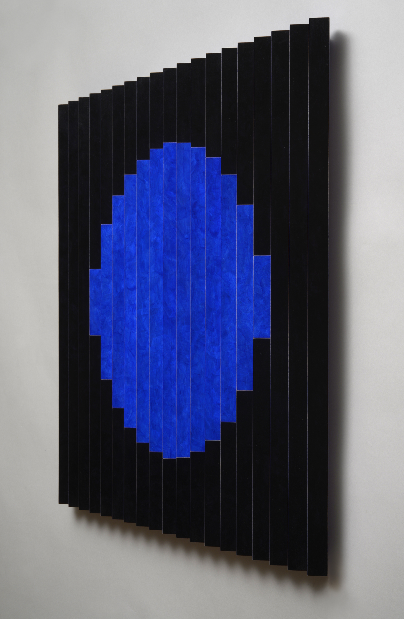 "Once in a Blue Moon (Right)  Emi Ozawa, 2014  Acrylic paint on Poplar  25 5/5""H x 25 1/4""W x 1 1/2""D"