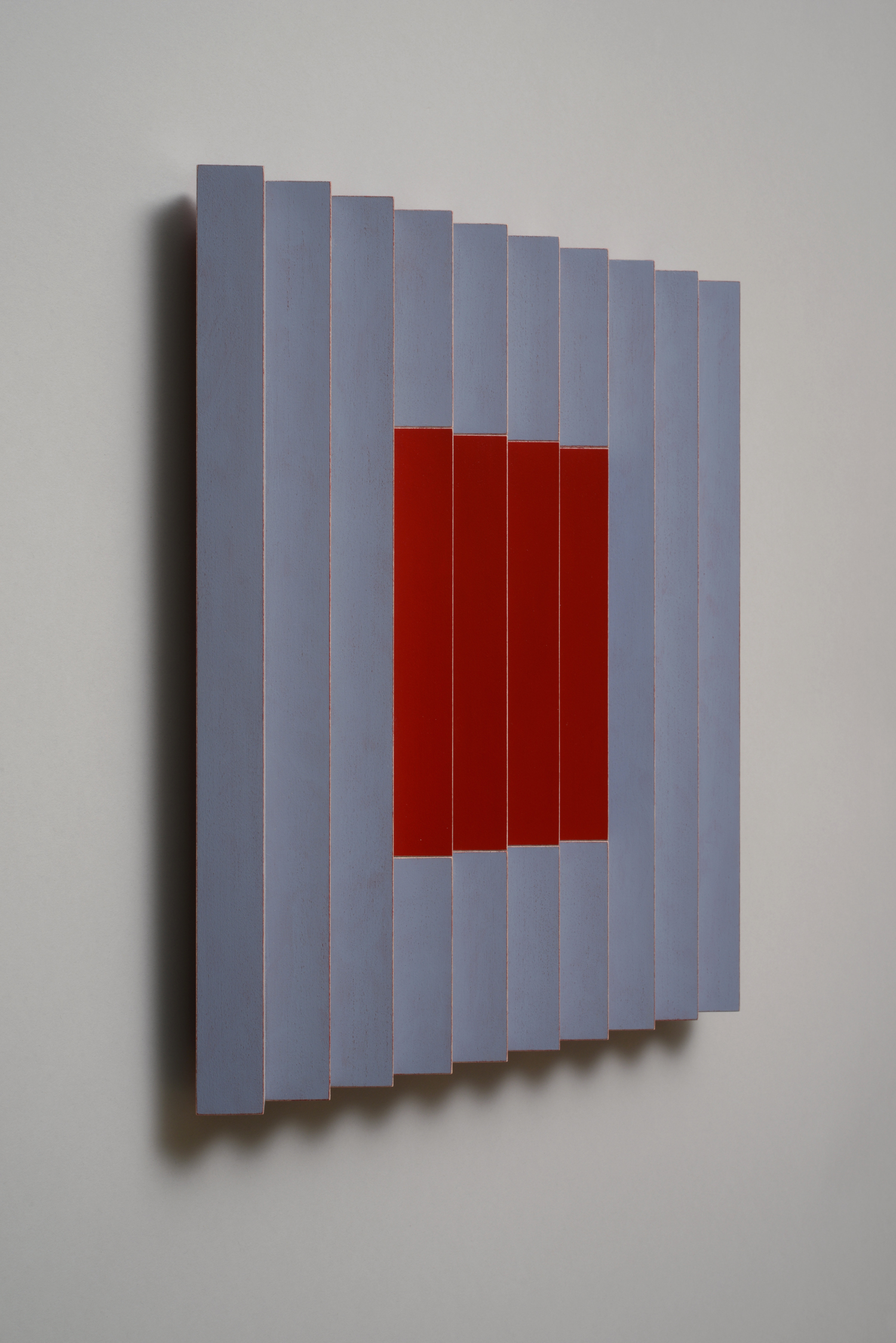 "Seven Sisters, No.3 / Cheery Cherry (Left)  Emi Ozawa, 2014  Acrylic on Poplar  16 1/4""H x 16 1/4""W x 2""D"