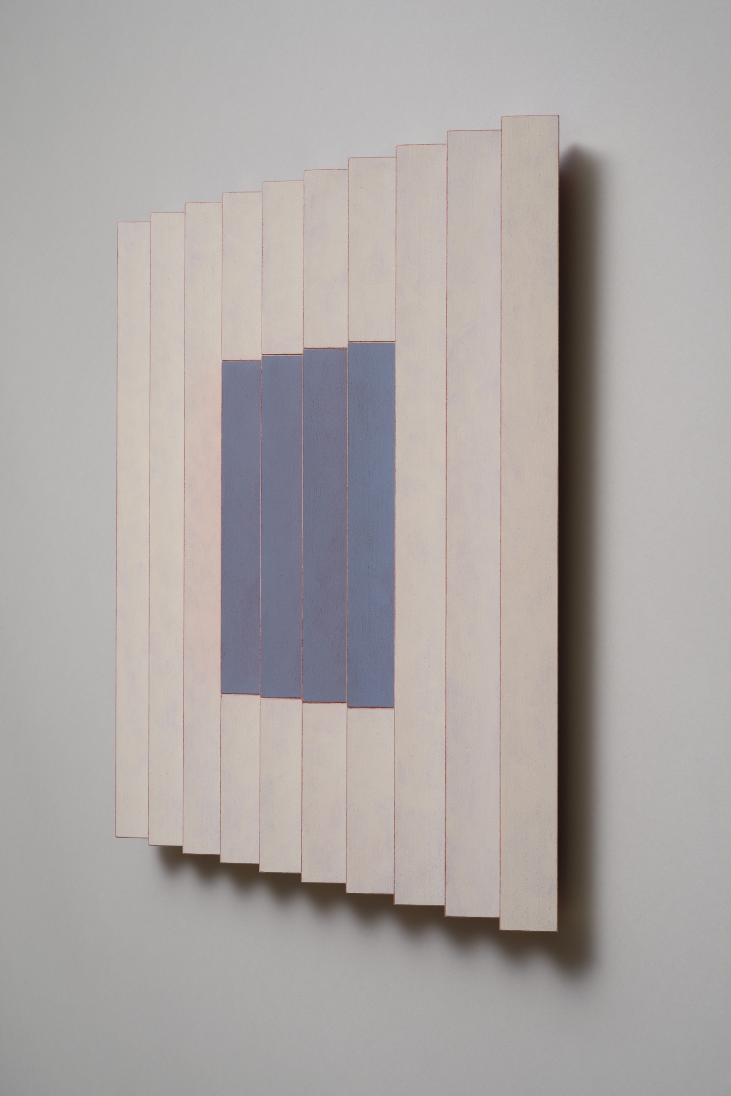 "Seven Sisters, No.3 / Cheery Cherry (Right)  Emi Ozawa, 2014  Acrylic on Poplar  16 1/4""H x 16 1/4""W x 2""D"