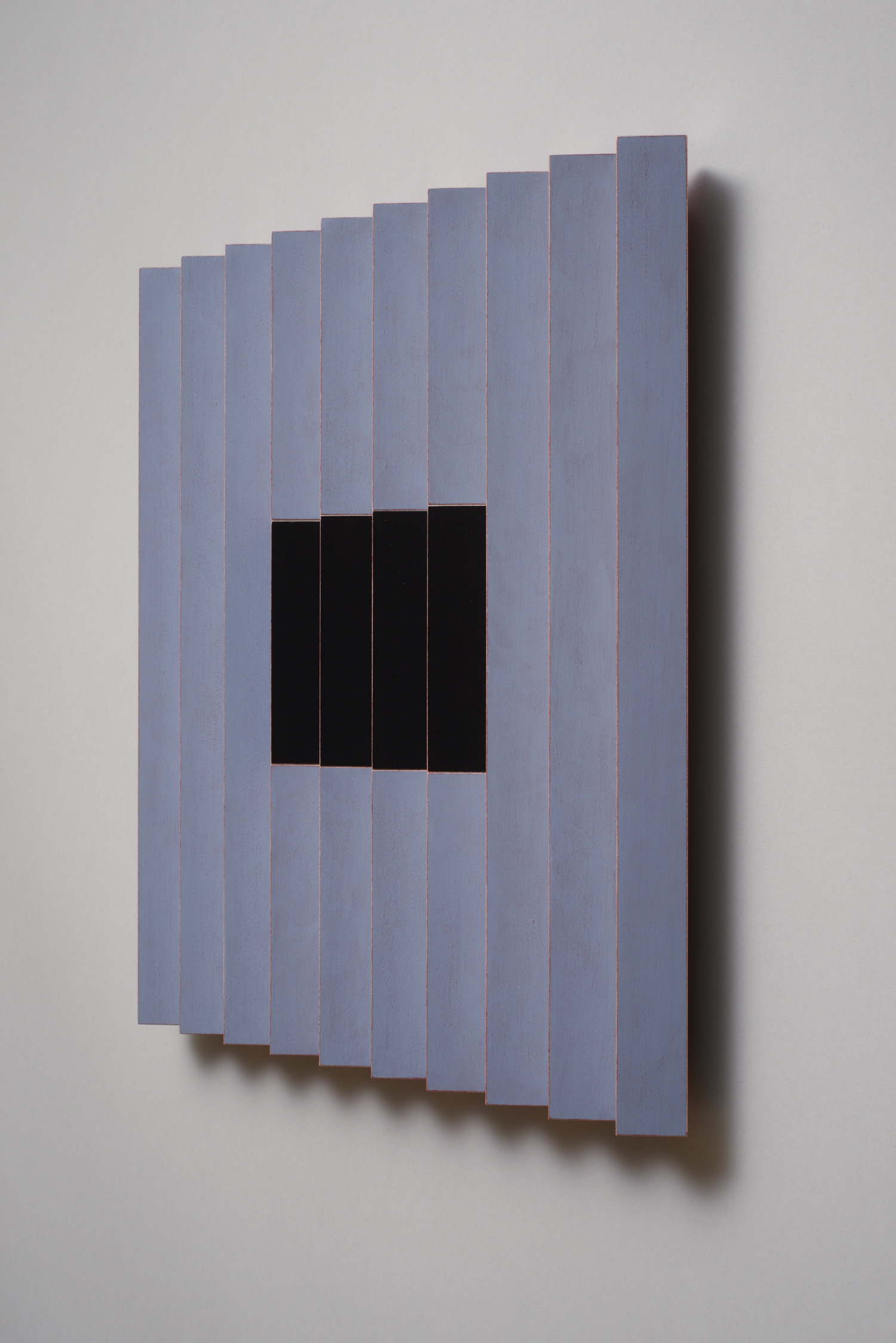 "Seven Sisters, No.5 / Quiet One (Right)  Emi Ozawa, 2014  Acrylic on Poplar  16 1/4""H x 16 1/4""W x 2""D"