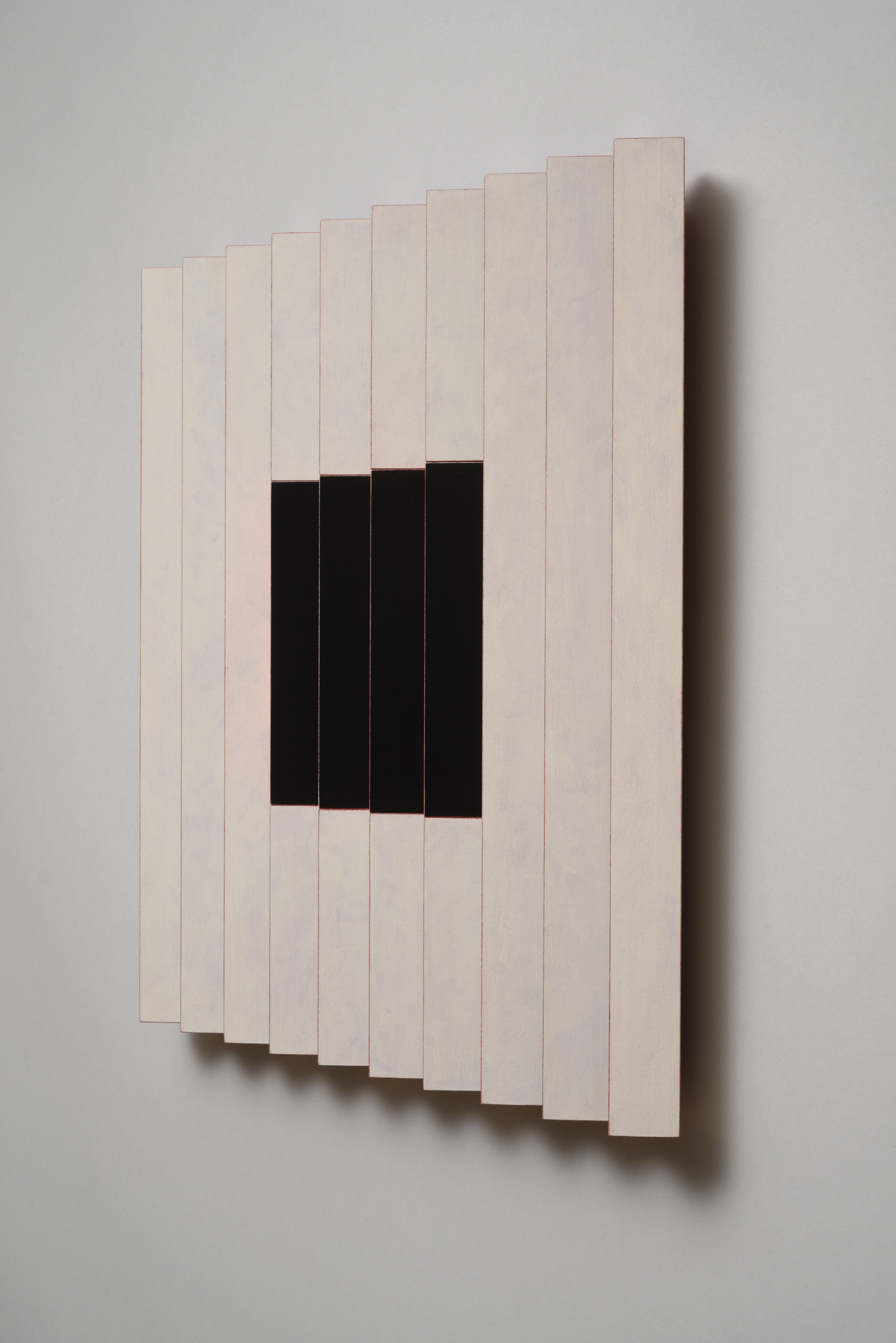 "Seven Sisters, No. / Midnight Cherry (Right)  Emi Ozawa, 2014  Acrylic on Poplar  16 1/4""H x 16 1/4""W x 2""D"