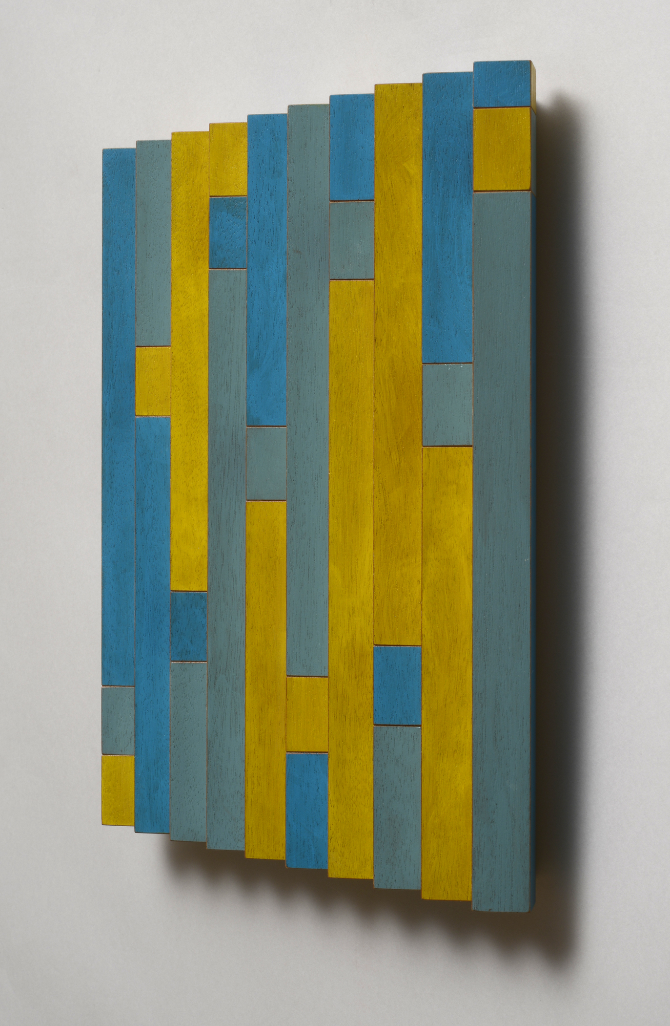 "Signals (Right)  Emi Ozawa, 2014  Acrylic on Mahogany  11 7/8""H x 11 5/8""W x 1 1/2""D"