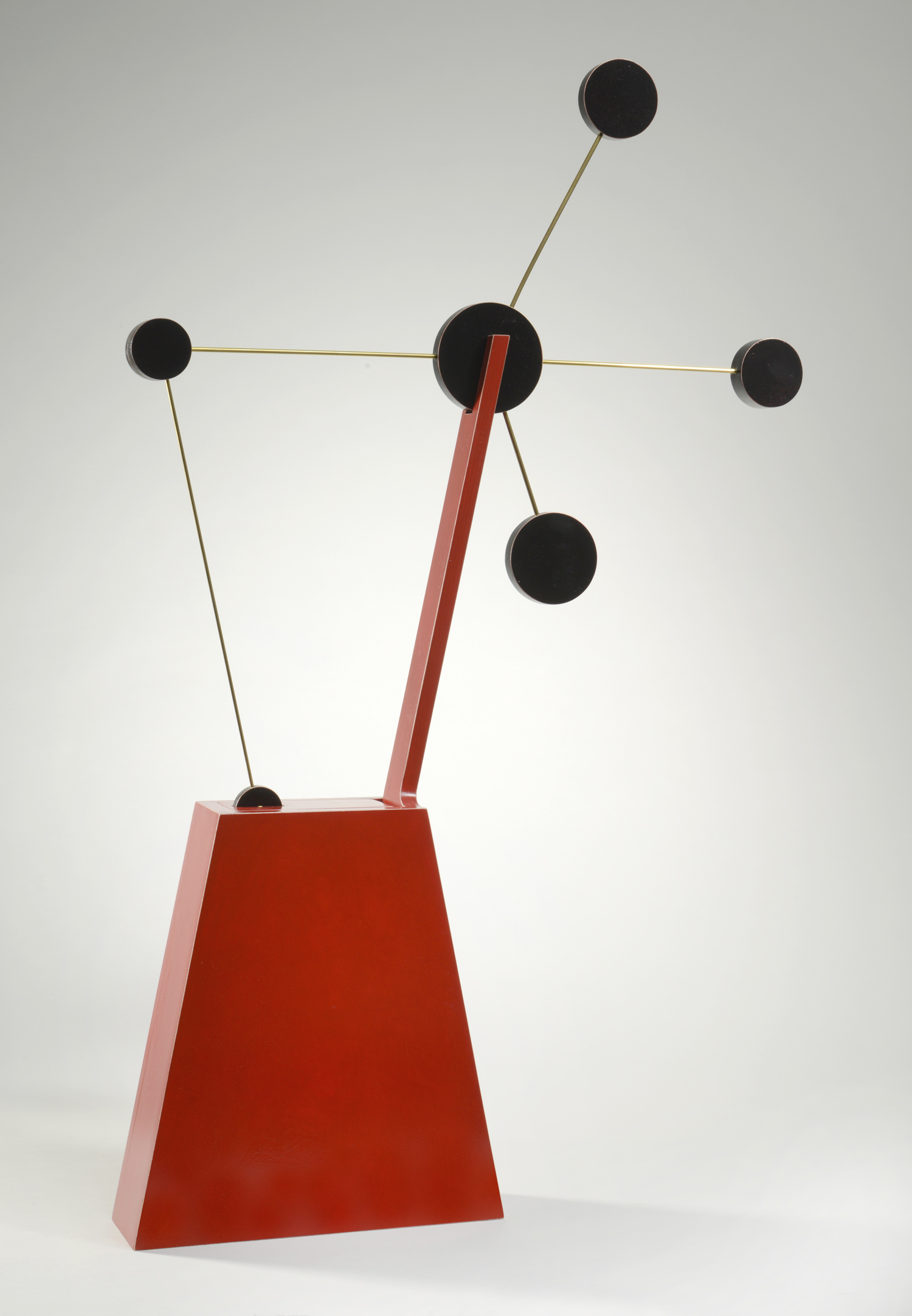 "Constellation No.1 (down)  Emi Ozawa, 2010  Birch Plywood, Acrylic Paint, Brass  31""H x 20""W x 3""D"