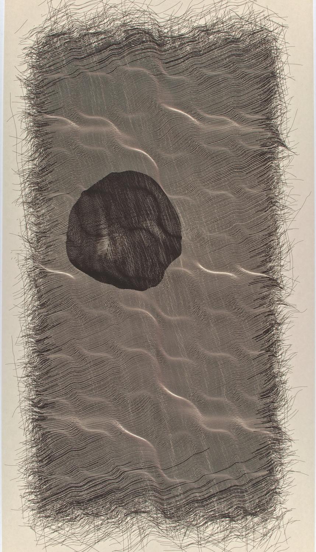 "H2   Digital drawing, inkjet pigments, 2011    Art : 33""x16.5""    Paper: Niyodo natural,     35""x17"""