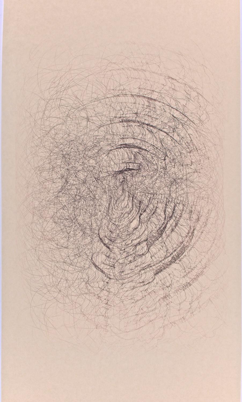 "H4    Digital drawing, inkjet pigments, 2012-2014    Art : 24.25""x15.25""    Paper: 35""x17"" Niyodo natural"