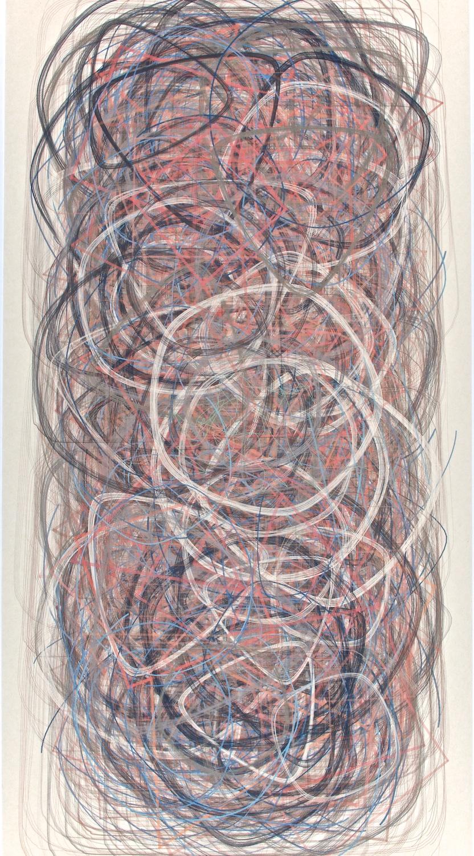"I4    Digital drawing, inkjet pigments, 2013    Art : 33.75""x16""    Paper: 35""x17"" Niyodo natural"