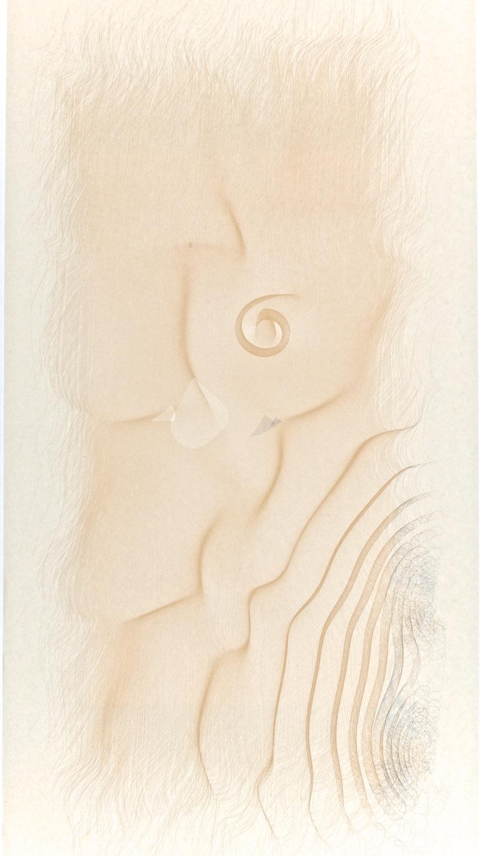 "G3    Digital drawing, inkjet pigments, 2013    Art : 33.75""x16""    Paper: Niyodo natural,     35""x17"""