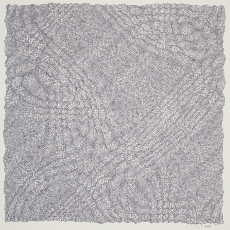"C3    Ink on paper - pen plotter drawing, 1989    Art : 14.25""x14.25""    Paper : Strathmore 21.5""x17"""