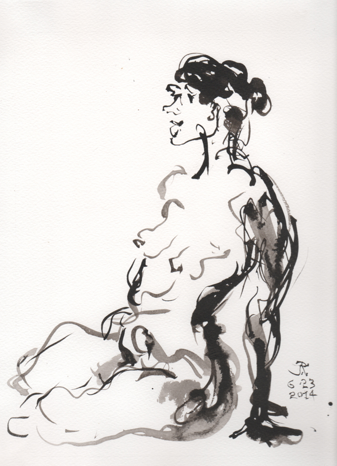 2014-0623-Ink Brush on watercolor Paper 8 x 11 Seated Nude 300dpi.jpg