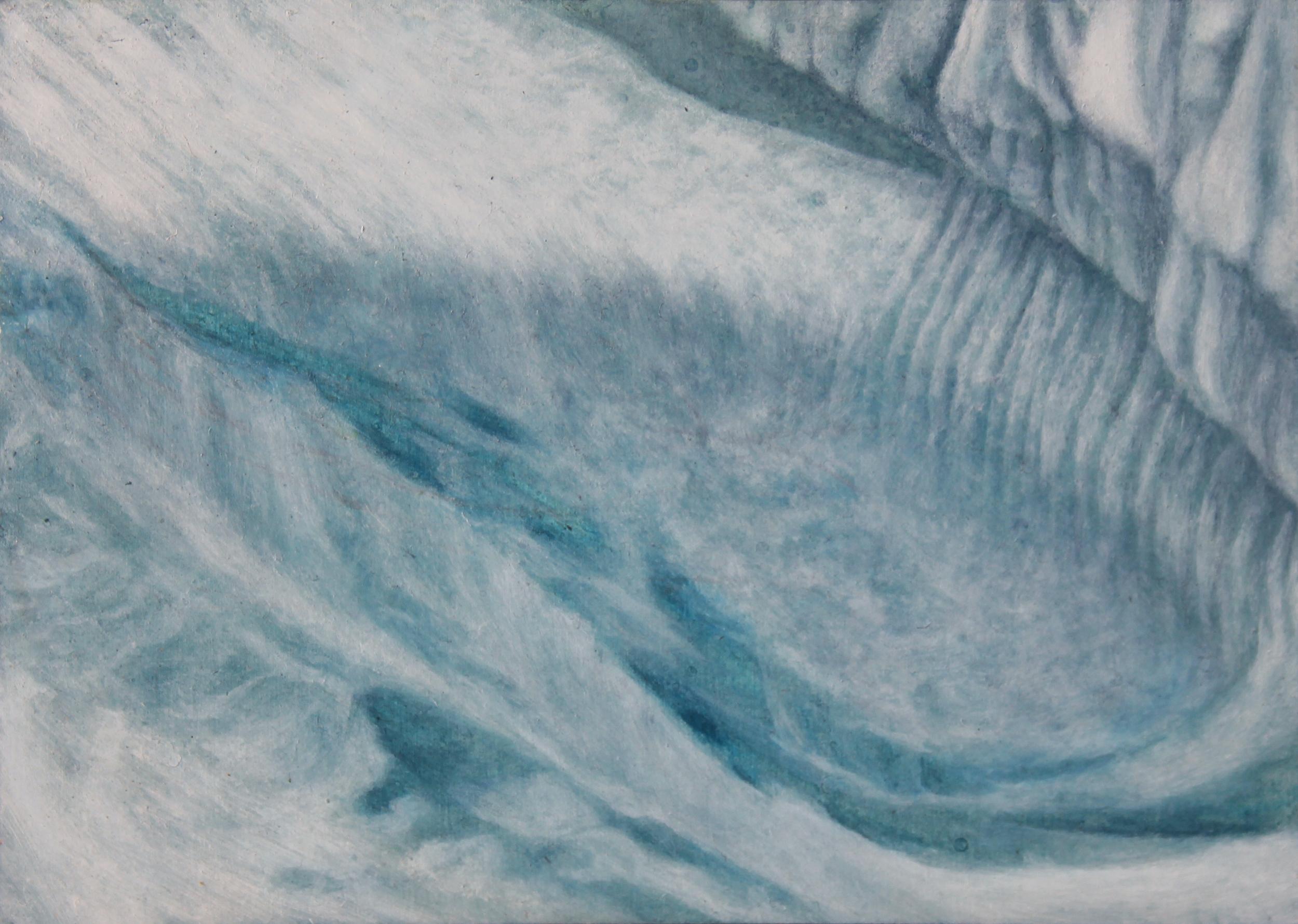 "Labrador Iceberg 4 | 2013 | oil on aluminum | 5"" x 7"" |"