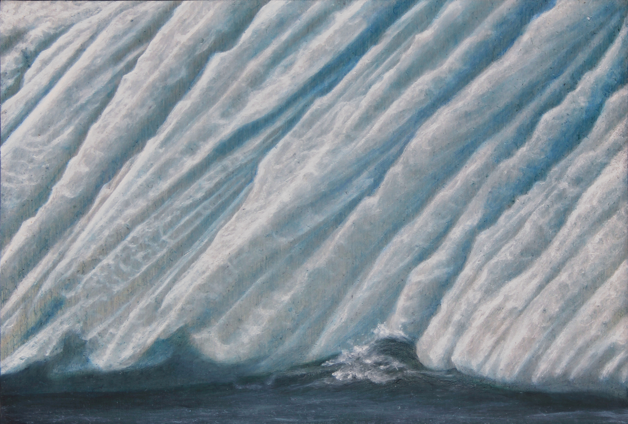 "Labrador Iceberg 1 | 2013 | oil on aluminum | 5"" x 7"" |"
