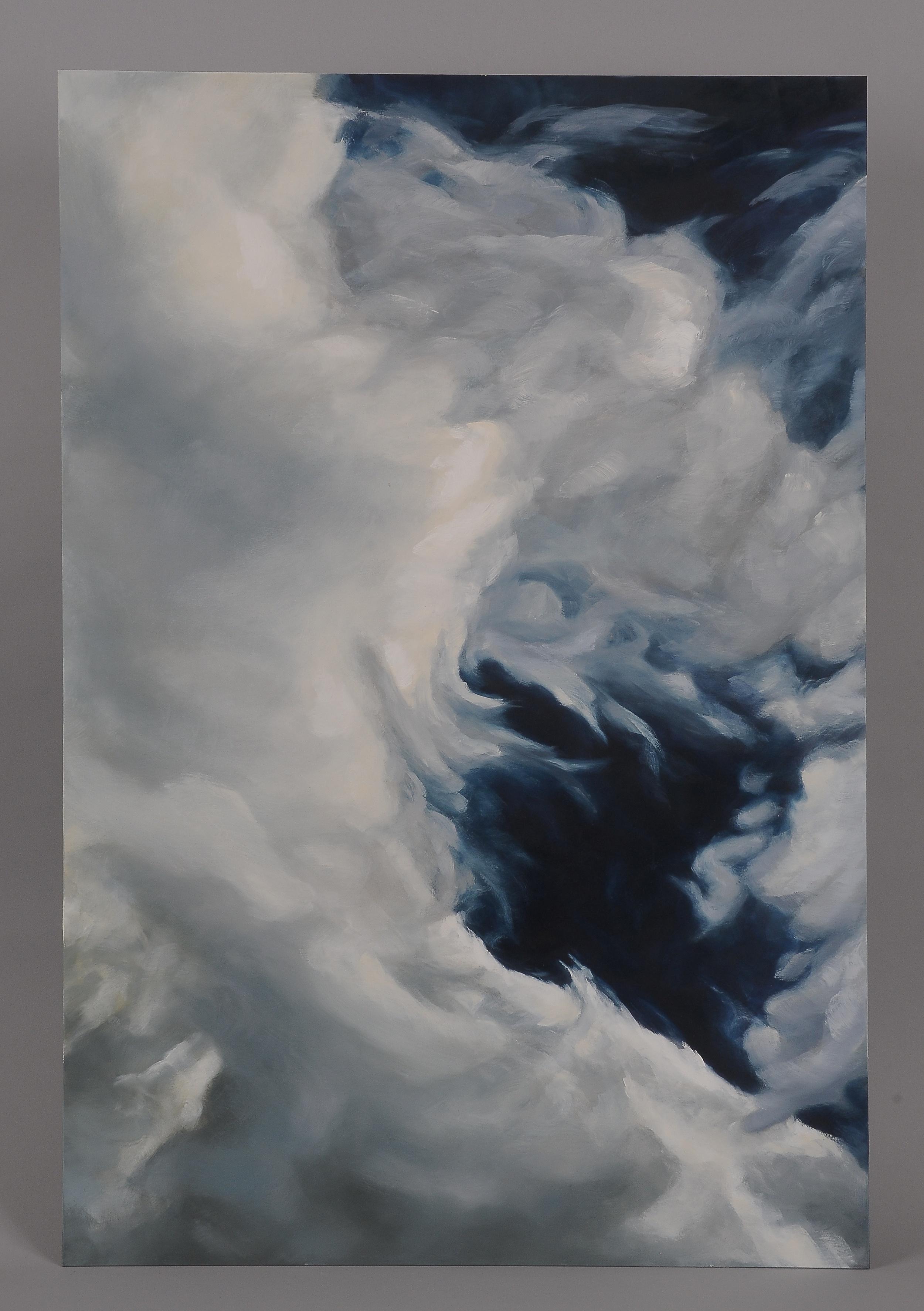"""Swirl Cloud  2014  36"""" H x 24"""" W  oil paint on gesso board"""