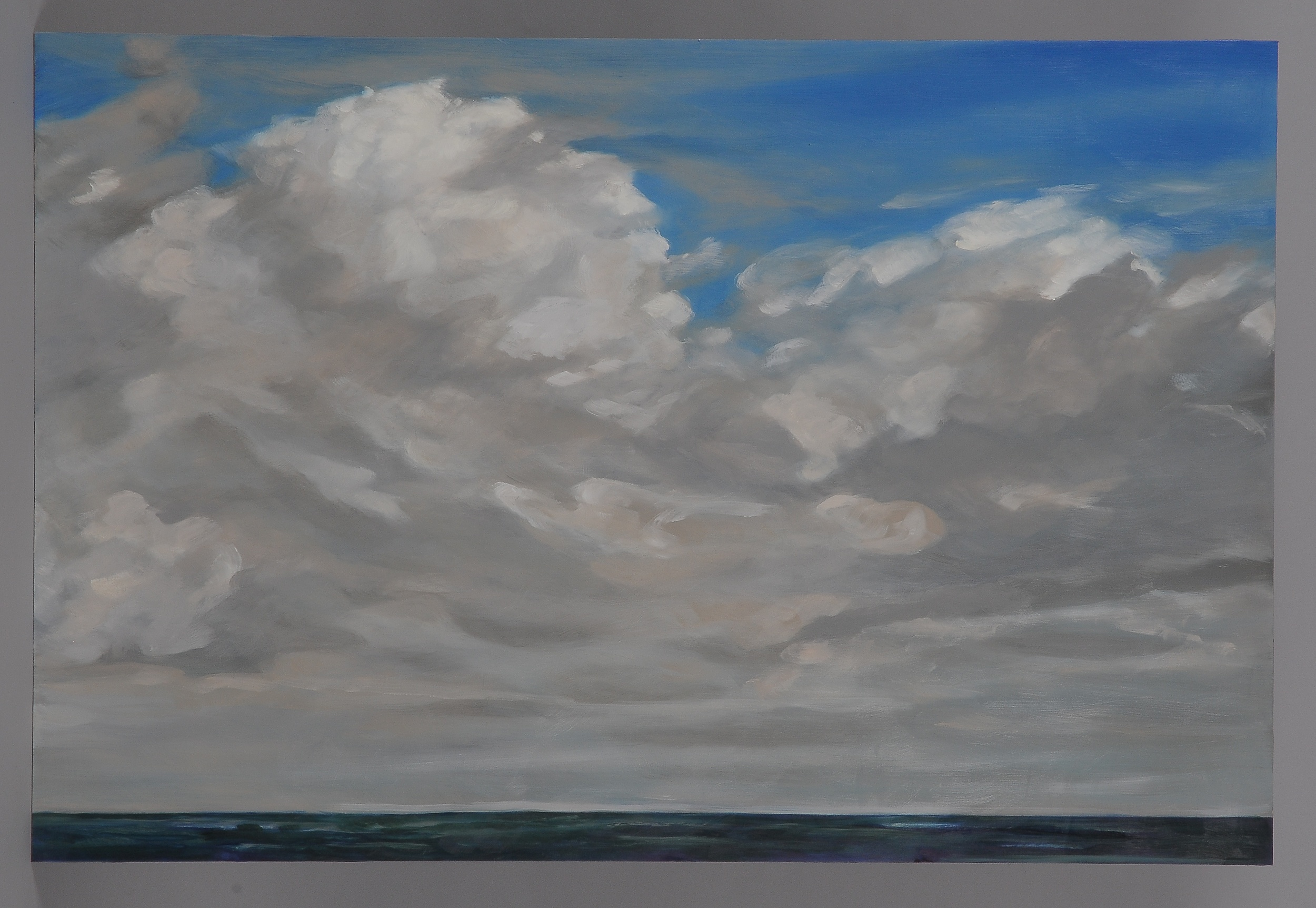 """Small Florida Cloud  2014  24"""" H x 36"""" W  oil paint on gesso board"""