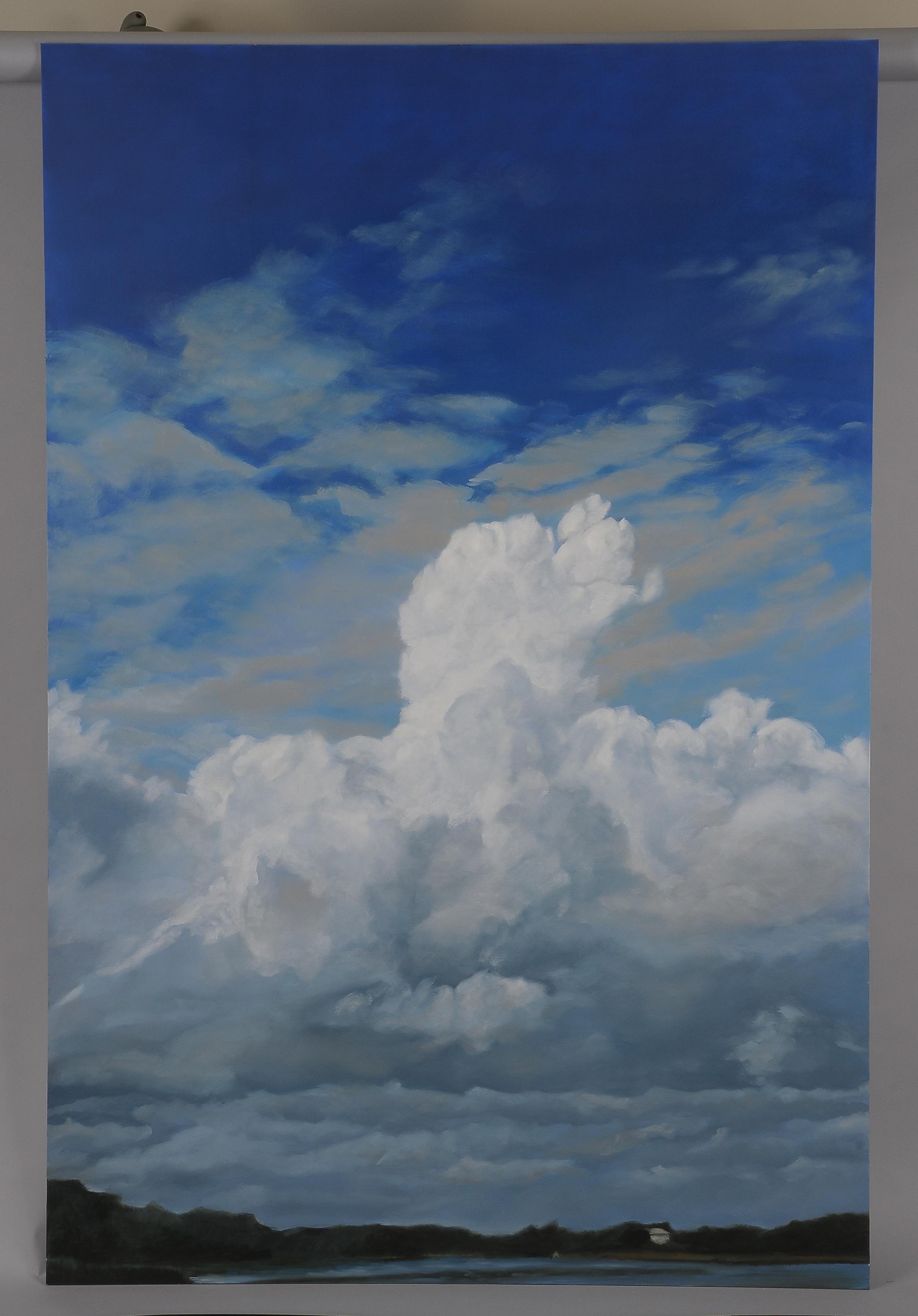 "Slocum Cumulus  2014  63"" H x 42"" W  oil paint on gesso board"