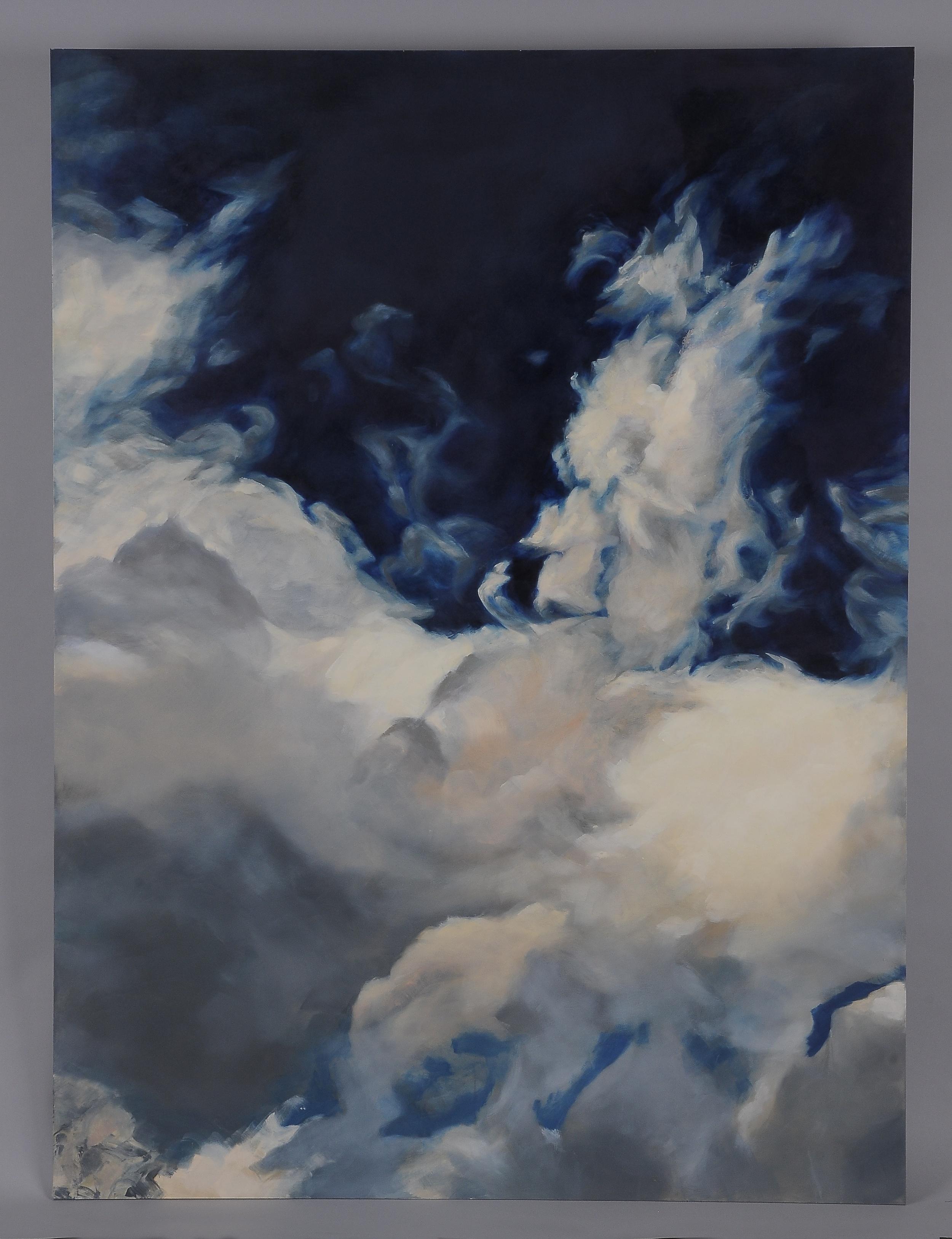 """Golden Cloud  2014  56"""" H x 42"""" W  oil paint on gesso board"""